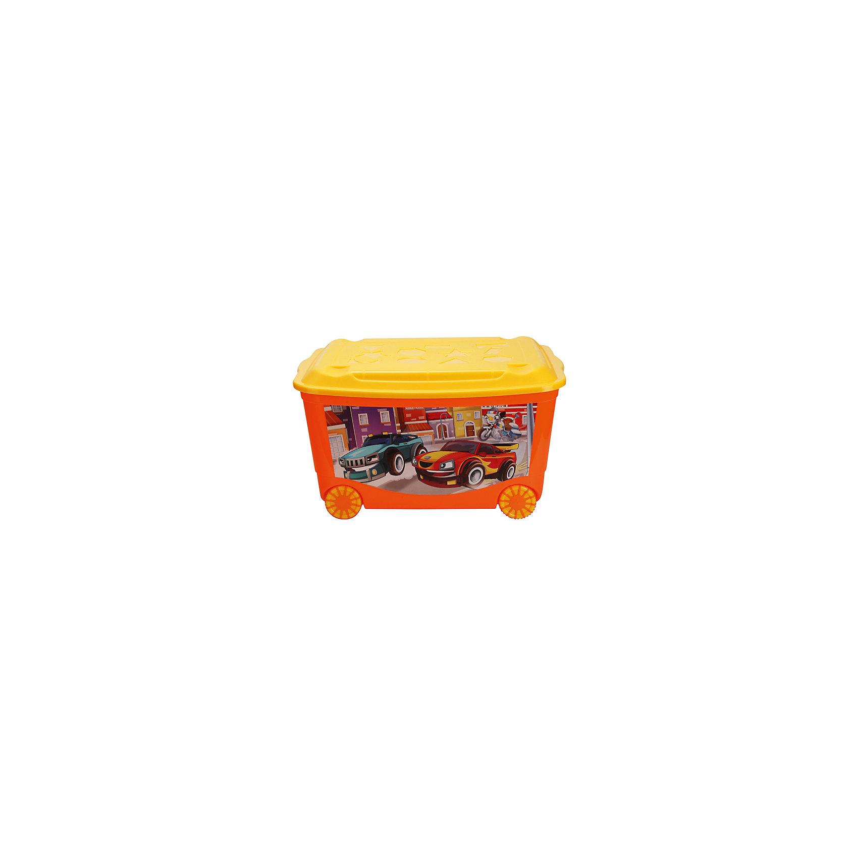 Ящик для игрушек на колесах 580х390х335 мм, Пластишка, красныйЯщик для игрушек на колесах 580х390х335 мм, Пластишка, красный - позволит приучить ребенка к уборке.<br>Контейнер изготовлен из качественного пластика, не токсичен для малышей. Вместительный, но в тоже время очень компактный ящик с крышечкой. Подойдет для упаковки игрушек, одежды, аксессуаров. Благодаря колесикам легко перемещается по комнате. Легкое скольжение позволит малышу самому привозить и увозить ящик.<br><br>Дополнительная информация: <br><br>- материал: полипропилен<br>- цвет: красный<br>- размер: 580*390*335 мм<br><br>Ящик для игрушек на колесах 580х390х335 мм, Пластишка, красный можно купить в нашем интернет магазине.<br><br>Ширина мм: 580<br>Глубина мм: 400<br>Высота мм: 630<br>Вес г: 1679<br>Возраст от месяцев: 12<br>Возраст до месяцев: 72<br>Пол: Унисекс<br>Возраст: Детский<br>SKU: 4972216