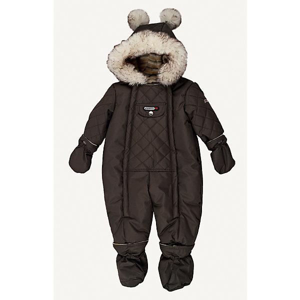 Комбинезон GUSTIВерхняя одежда<br>Комбинезон GUSTI (ГУСТИ) – это комфортный качественный комбинезон, который обеспечит надежную защиту Вашему малышу от холодов в зимний сезон.<br><br>Температурный режим: до -30  градусов. Степень утепления – высокая. <br><br>* Температурный режим указан приблизительно — необходимо, прежде всего, ориентироваться на ощущения ребенка. Температурный режим работает в случае соблюдения правила многослойности – использования флисовой поддевы и термобелья.<br><br>Зимний комбинезон от GUSTI (ГУСТИ) выполнен из плотного непромокаемого материала с защитной от влаги мембраной 5000 мм. Тань хорошо сохраняет тепло, отталкивает влагу и позволяет коже ребенка дышать. Утеплитель из тек-полифилла и флисовая внутренняя отделка дают возможность использовать комбинезон при очень низких температурах. Наличие двух молний облегчает одевание и раздевание ребенка. Несъемный капюшон изнутри отделан флисом. В комплекте отстегивающиеся варежки и пинетки. Милую детскую задорность изделию придает опушка и помпоны на капюшоне. Цельный зимний комбинезон от GUSTI (ГУСТИ) не ограничивает движений и идеально защищает от ветра, холода и низких температур. Модель подходит для прогулок на морозе до -30 градусов. <br><br>Дополнительная информация:<br><br>- Сезон: зима<br>- Температурный режим до -30 градусов<br>- Цвет: хаки<br>- Материал верха: shuss 5000мм (100% полиэстер)<br>- Наполнитель: тек-полифилл плотностью 283 гр/м (10 унций) 100% полиэстер<br>- Подкладка: флис (100% полиэстер)<br>- 2 молнии и фурнитура YKK<br>- Светоотражающие элементы 3М Scotchlite<br>- Пинетки и рукавички отстегиваются<br>- Уход: машинная стирка, легкие загрязнения можно смыть губкой без стирки<br><br>Комбинезон GUSTI (ГУСТИ) можно купить в нашем интернет-магазине.<br><br>Ширина мм: 356<br>Глубина мм: 10<br>Высота мм: 245<br>Вес г: 519<br>Цвет: хаки<br>Возраст от месяцев: 6<br>Возраст до месяцев: 9<br>Пол: Мужской<br>Возраст: Детский<br>Размер: 74,90,86,80<br>SKU: 4972339