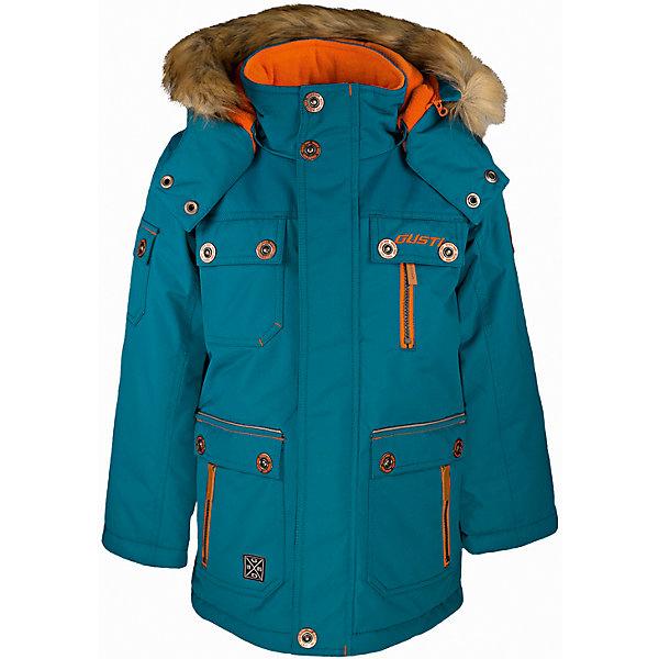 Куртка GUSTIВерхняя одежда<br>Куртка GUSTI (ГУСТИ) – это идеальный вариант для суровой зимы с сильными морозами.<br><br>Температурный режим: до -30  градусов. Степень утепления – высокая. <br><br>* Температурный режим указан приблизительно — необходимо, прежде всего, ориентироваться на ощущения ребенка. Температурный режим работает в случае соблюдения правила многослойности – использования флисовой поддевы и термобелья.<br><br>Удлиненная куртка прямого кроя от GUSTI (ГУСТИ) выполнена из плотного непромокаемого материала с защитной от влаги мембраной 5000 мм. Тань хорошо сохраняет тепло, отталкивает влагу и позволяет коже ребенка дышать. Утеплитель из тек-полифилла и флисовая внутренняя отделка на груди и на спинке дают возможность использовать куртку при очень низких температурах. Куртка застегивается на молнию с ветрозащитной планкой, имеет удобные карманы, кулиску внутри по талии, высокий ворот с защитой шеи и подбородка, съемный капюшон с флисовой подкладкой и отстегивающейся оторочкой из искусственного меха. Модель подходит для прогулок на морозе до -30 градусов.<br><br>Дополнительная информация:<br><br>- Сезон: зима<br>- Пол: мальчик<br>- Цвет: голубой<br>- Температурный режим до -30 градусов<br>- Материал верха: shuss 5000мм (100% полиэстер)<br>- Наполнитель: тек-полифилл плотностью 283 гр/м (10 унций) 100% полиэстер<br>- Подкладка: флис на груди и спинке (100% полиэстер)<br>- Молнии и фурнитура YKK<br>- Светоотражающие элементы 3М Scotchlite<br><br>Куртку GUSTI (ГУСТИ) можно купить в нашем интернет-магазине.<br><br>Ширина мм: 356<br>Глубина мм: 10<br>Высота мм: 245<br>Вес г: 519<br>Цвет: голубой<br>Возраст от месяцев: 12<br>Возраст до месяцев: 24<br>Пол: Мужской<br>Возраст: Детский<br>Размер: 92,164,152,140,128,122,120,116,110,104,100,98<br>SKU: 4972544