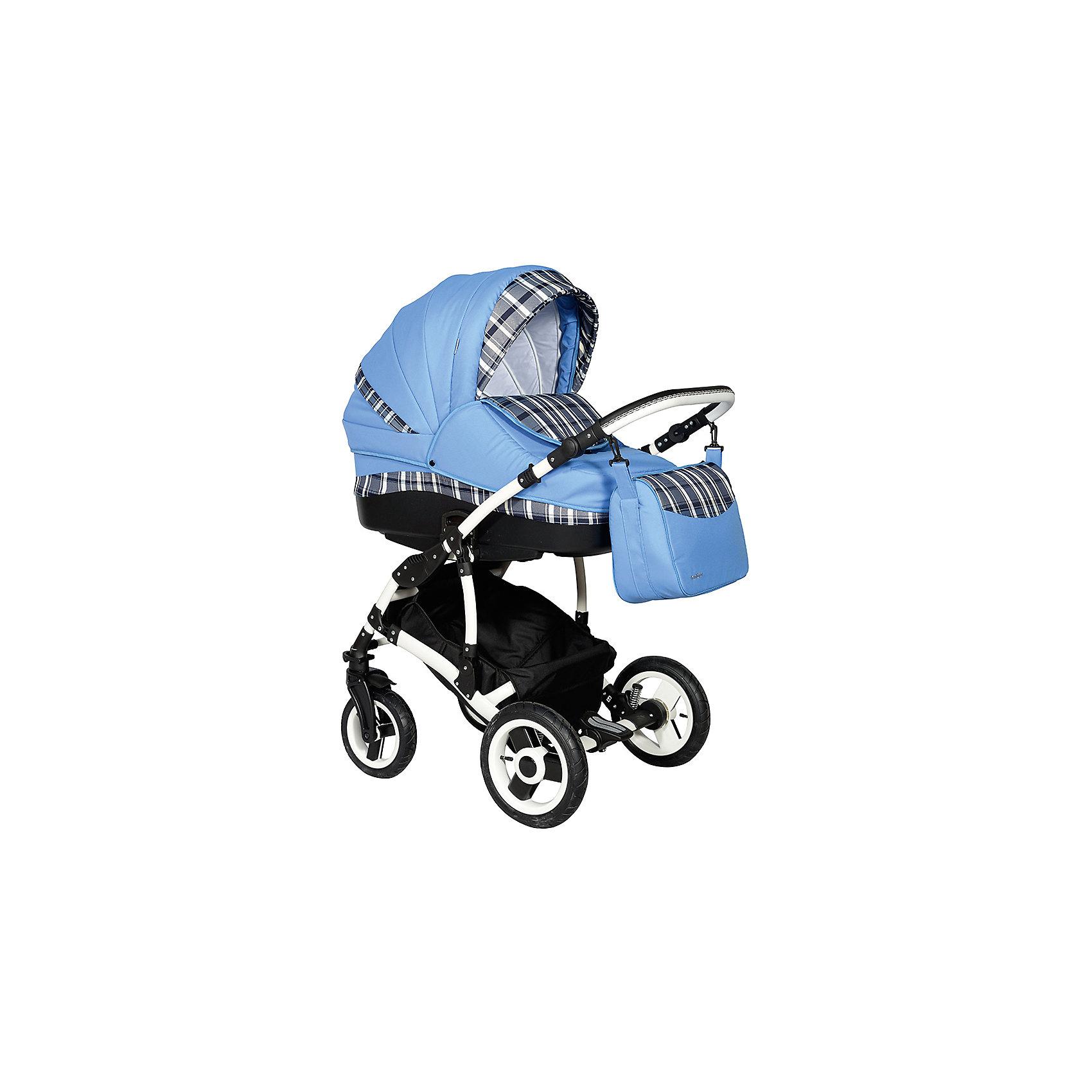 Коляска 2 в 1 Mathis Flowers 2, Indigo,  Mc2 02 голубой/синяя клеткаУдобная и практичная коляска Матис 2 в 1, от известного польского бренда Indigo. Отличительной особенностью коляски являются клетчатые расцветки и очень нежные хлопчатобумажные материалы внутренней отделки. Стильная, спортивная детская коляска с удлиненной рамой для большей устойчивости на дороге и крутых спусков с бордюров.<br>Характеристики:<br>Регулируемая высота ручкиПружинный механизм амортизации.<br>Пластиковая цельнолитая люлька.<br>Регулируемый подголовник.<br>Ручка для переноски люльки.<br>Бесшумное опускание капюшона.<br>Сумка.<br>Регулируемая спинка.<br>Дождевик.<br>Москитная сетка.<br>Солнцезащитный козырек.<br>Корзина для продуктов.<br>Ножной тормоз.<br>Спальное место: 73x33x24 см.<br>Ширина колесной базы: 61 см.<br>Вес шасси с люлькой: 13,5 кг.<br>Тип колеса: надувные.<br>Диаметр колеса: 290 мм; 230 мм.<br><br>Ширина мм: 930<br>Глубина мм: 610<br>Высота мм: 560<br>Вес г: 13500<br>Возраст от месяцев: 0<br>Возраст до месяцев: 36<br>Пол: Унисекс<br>Возраст: Детский<br>SKU: 4972735