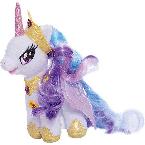 Мягкая игрушка Принцесса Селестия, Мульти-Пульти, My Little PonyМягкие игрушки из мультфильмов<br>Прицесса Селестия из любимого девочками мультфильма  My Little Pony станет отличным подарком ребенку. Она приятна на ощупь, очень похожа на пони из мультика<br>Эта игрушка не только симпатично выглядит, она дополнена звуковым модулем, поэтому может говорить фразы и петь песни! Игрушка выполнена из ярких маериалов. Такая пони запросто может стать самой любимой игрушкой! Произведена из безопасных для ребенка и качественных материалов.<br><br>Дополнительная информация:<br><br>цвет: разноцветный;<br>материал: текстиль;<br>звуковой модуль;<br>размер: 20 х 14 х 7 см.<br><br>Мягкую игрушку Принцесса Селестия, Мульти-Пульти, My Little Pony можно купить в нашем магазине.<br>Ширина мм: 60; Глубина мм: 170; Высота мм: 250; Вес г: 110; Возраст от месяцев: 12; Возраст до месяцев: 72; Пол: Женский; Возраст: Детский; SKU: 4973070;