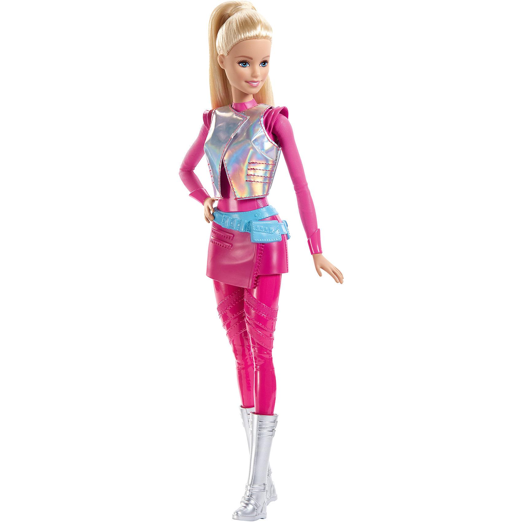 Кукла из серии Barbie и космическое приключениеBarbie<br>Кукла из серии Barbie и космическое приключение порадует вашего ребёнка. Кукла имеет красивый, космический наряд. Благодаря чему можно пофантазировать о космических путешествиях. Такая куколка станет любимицей ребенка, а игра с ней поспособствует развитию фантазии. <br><br>В товар входит:<br>-кукла<br><br>Дополнительная информация:<br>-Для девочек от 3 лет<br>-Состав: пластмасса,текстиль<br>-Марка: Mattel<br><br>Ширина мм: 326<br>Глубина мм: 126<br>Высота мм: 48<br>Вес г: 199<br>Возраст от месяцев: 36<br>Возраст до месяцев: 120<br>Пол: Женский<br>Возраст: Детский<br>SKU: 4973458