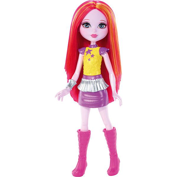 Маленькая кукла из серии Barbie и космическое приключениеБренды кукол<br>Характеристики:<br><br> • возраст: от 3 лет;<br>• материал: пластмасса;<br>• высота куклы: 16 см;<br>• вес упаковки: 65 гр.;<br>• размер упаковки: 18х9х4 см;<br>• страна бренда: США.<br><br>Маленькая кукла Barbie из мульфильма «Барби и космическое приключение» одета в яркую юбку с оборками и топ со звездочками. Розовые волосы украшены золотыми прядками. На ножках куклы высокие сапожки, а завершает образ широкий браслет.<br>Игрушка имеет подвижные части тела, что делает игры еще интересней. Волосы можно расчесывать и делать разные прически, что обязательно понравится девочке. Волосы прошиты, поэтому легко выдерживают многократные эксперименты. Игрушка выполнена из безопасных материалов.<br><br>Маленькую куклу из серии «Barbie и космическое приключение» можно купить в нашем интернет-магазине.<br>Ширина мм: 40; Глубина мм: 100; Высота мм: 215; Вес г: 83; Возраст от месяцев: 36; Возраст до месяцев: 120; Пол: Женский; Возраст: Детский; SKU: 4973461;