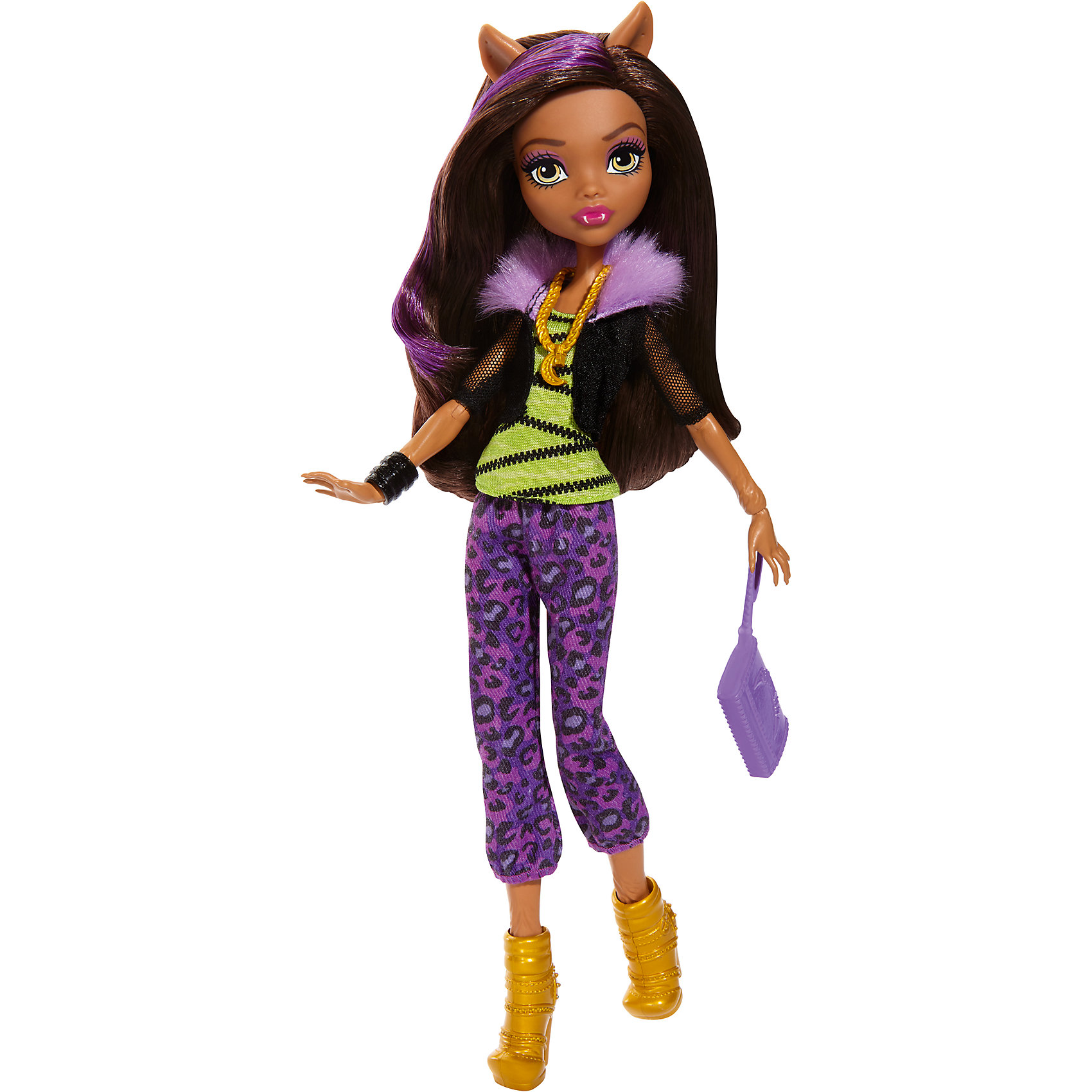Кукла в модном наряде, Monster HighКуклы<br>Кукла в новом наряде  имеет уникальный наряд со съемными аксессуарами: ожерельем,сумочкой,туфлями. Благодаря этому, ребёнок сможет создать не один образ для куклы.  С ней девочка придумает собственную фантастическую историю о куклах-монстрах. Игра с куклой в новом наряде не только подарить много положительных эмоций, но и поспособствует развитию фантазию ребенка. <br>В товар входит:<br>-кукла<br>-аксессуары<br><br>Дополнительная информация:<br>-Размерв упаковке: 33х 15 х 6<br>-Вес:258 г<br>-Состав: текстиль, пластмасса<br>-Для девочек от 6 лет<br>-Марка: Mattel<br><br>Ширина мм: 339<br>Глубина мм: 154<br>Высота мм: 66<br>Вес г: 184<br>Возраст от месяцев: 72<br>Возраст до месяцев: 120<br>Пол: Женский<br>Возраст: Детский<br>SKU: 4973465