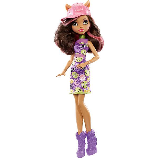 Кукла, Monster HighКуклы<br>Красотка Клодин Вульф из серии Emoji одета в изумительное сиреневое платье, украшенное стильным принтом, сетчатыми вставками и дополненное салатовым шарфиком. Обута Клодин в сиреневые ботильоны на высокой платформе. Пышные волосы девочки отлично дополняет розовая бейсболка со смайлами. Плечи, бедра и голова куклы подвижны. Очаровательная Клодин Вульф станет лучшим подарком любительницам смайлов и мультфильма Monster High!<br><br>Дополнительная информация:<br>Материал: пластик, текстиль<br><br>Куклу Клодин Вульф(Monster High) вы можете приобрести в нашем интернет-магазине.<br>Ширина мм: 106; Глубина мм: 332; Высота мм: 60; Вес г: 177; Возраст от месяцев: 72; Возраст до месяцев: 120; Пол: Женский; Возраст: Детский; SKU: 4973475;