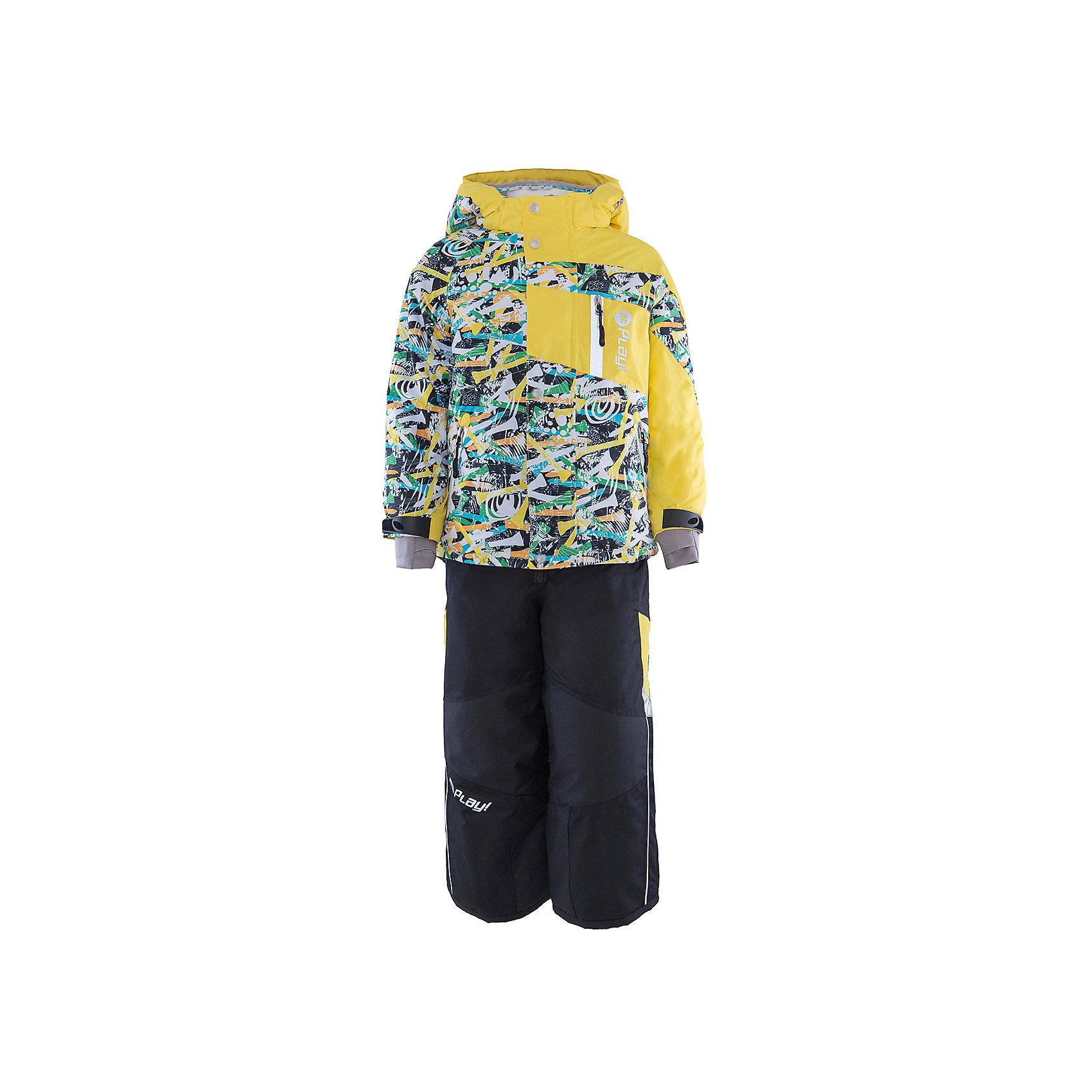 Комплект: куртка и полукомбинезон для мальчика atPlay!В холода необходимо особенно тщательно подходить к подбору одежды для ребенка. Чтобы обеспечить ему тепло, сухость и комфорт, можно выбрать этот костюм, сшитый из мембранного материала.<br>Он позволяет коже дышать, помогает выводить лишнюю влагу, при этом не позволяет ребенку замерзнуть или промокнуть. Выглядит при этом модель очень симпатично! Изделие выполнено очень качественно. Фурнитура для него подбиралась с учетом особенностей детского организма. В комплекте идет курточка и полукомбинезон.<br><br><br>Дополнительная информация:<br><br>цвет: желтый;<br>материал: полиэстер, фурнитура YKK, водо- и грязеотталкивающее покрытие Teflon, нижний комбинезон - флис;<br>утеплитель: Thinsulate 150 г;<br>температурный режим: от -25° С до +5° С;<br>мягкие элементы на капюшоне и воротнике;<br>паропроницаемость: 10000 г / м.куб. / 24 ч;<br>водонепроницаемость: 10000 мм / 24 ч;<br>швы проклеены;<br>капюшон регулируется.<br><br>Костюм для мальчика от бренда atPlay! можно приобрести в нашем интернет-магазине.<br><br>Ширина мм: 356<br>Глубина мм: 10<br>Высота мм: 245<br>Вес г: 519<br>Цвет: желтый<br>Возраст от месяцев: 36<br>Возраст до месяцев: 48<br>Пол: Мужской<br>Возраст: Детский<br>Размер: 104,128,122,110<br>SKU: 4973810