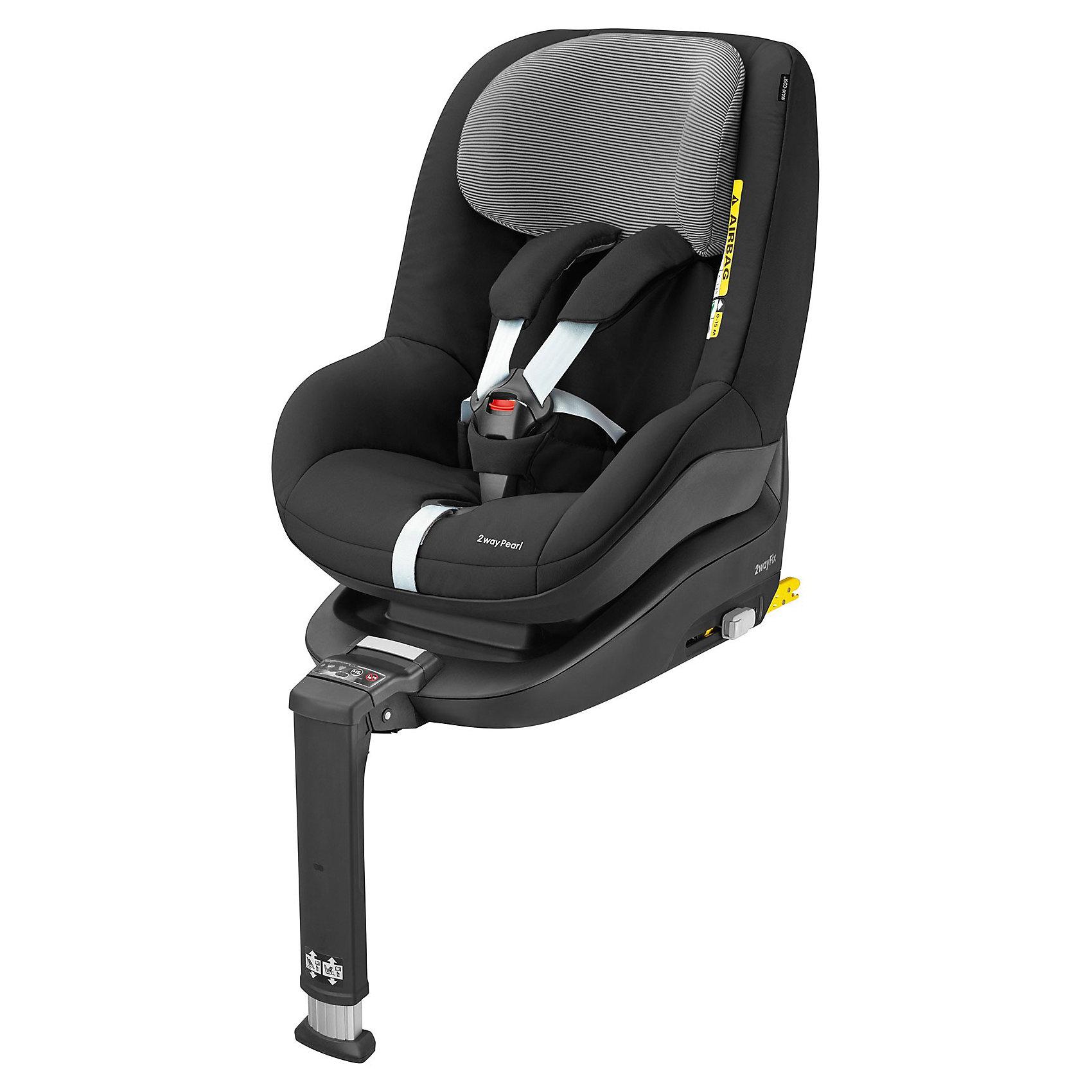 Автокресло Maxi-Cosi 2wayPearl 9-18 кг, Origami BlackГруппа 1 (От 9 до 18 кг)<br>Maxi-Cosi 2wayPearl - это яркое, удобное и безопасное автокресло создано специально для детой от 6 месяцев до 4 лет. Внутри кресла есть регулируемый 5-ти точечный ремень безопасности, так же, для большего удобства, имеется мягкий вкладыш под голову и шею ребенка.<br><br>Особенности:<br>- Фиксируется при помощи базы 2 WayFix (приобретается отдельно).<br>- Цветовые индикаторы и звуковые сигналы показывают правильность установки кресла.<br>- Уникальная система защиты от боковых ударов обеспечивает максимальную защиту<br>- 5-ти точечный ремень безопасности.<br>- Подголовник регулируется по высоте, имеет 7 положений.<br>- Наклон спинки регулируется в 5 положениях.<br>- Прочный каркас из ABC-пластика.<br>- Съемный чехол легко стирается.<br><br>Дополнительная информация:<br><br>- Возраст: от 6 месяцев до 4 лет. ( от 9 до 18 кг.)<br>- Цвет: Origami Black.<br>- Материал: полипропилен, полиэстер<br>- Ширина кресла внутри: 30 см.<br>- Ширина кресла снаружи: 44 см.<br>- Глубина кресла: 32 см.<br>- Размер кресла снаружи: 62x50 см.<br>- Вес кресла: 7.23 кг<br>- Вес в упаковке: 8.3 кг.<br><br>Купить автокресло 2wayPearl (9-18 кг.) в цвете Origami Black, можно в нашем магазине.<br><br>Ширина мм: 475<br>Глубина мм: 595<br>Высота мм: 610<br>Вес г: 7250<br>Возраст от месяцев: 4<br>Возраст до месяцев: 48<br>Пол: Унисекс<br>Возраст: Детский<br>SKU: 4975096