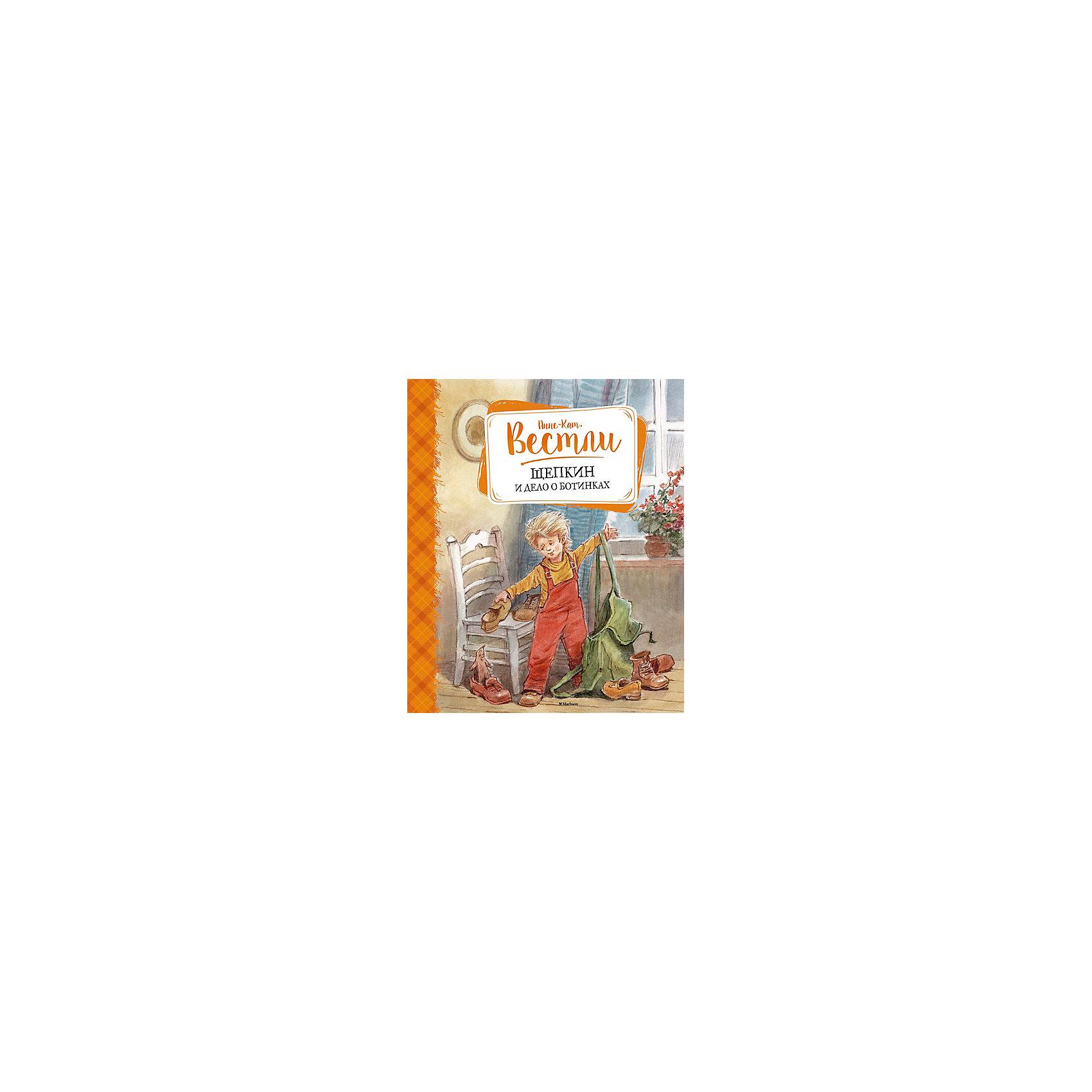 Щепкин и дело о ботинкахМахаон<br>На добрых историях и интересных книжках очень легко воспитывать детей. В них доступно объясняется - что хорошо, а что - плохо, даются понятия о базовых ценностях, дружбе, любви и порядочности.<br>Эта книга может стать отличным подарком ребенку. Это удобный формат, твердый переплет, качественная бумага, прекрасные иллюстрации и захватывающая история о Щепкине и Малыше. Книга произведена из качественных и безопасных для детей материалов.<br><br>Дополнительная информация:<br><br>страниц: 160;<br>твердый переплет;<br>формат: 24 х 20 см.<br><br>Книгу Щепкин и дело о ботинках можно купить в нашем магазине.<br><br>Ширина мм: 235<br>Глубина мм: 195<br>Высота мм: 13<br>Вес г: 470<br>Возраст от месяцев: 84<br>Возраст до месяцев: 120<br>Пол: Унисекс<br>Возраст: Детский<br>SKU: 4975129