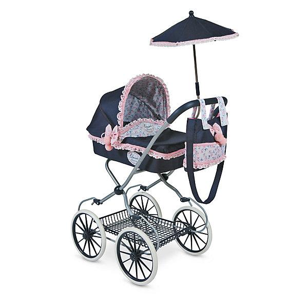 Коляска с сумкой и зонтиком Романтик, DeCuevasТранспорт и коляски для кукол<br>Кукла для девочки - это не только игрушка, с которой можно весело провести время, кукла - это возможность отрабатывать навыки поведения в обществе, учиться заботе о других, делать прически и одеваться согласно моде и поводу. Любимой кукле обязательно нужна коляска.<br>Эта красивая коляска не только эффектно выглядит, она легко складывается. В ней есть всё необходимое для комфорта - зонт и сумка на ручке. Игрушка украшена ажурной отделкой, в ней - прочный металлический каркас. Произведена коляска из безопасных для ребенка и качественных материалов.<br><br>Дополнительная информация:<br><br>цвет: разноцветный;<br>материал: пластик, текстиль, металл;<br>есть зонт и сумка на ручке;<br>размер: 68 х 42 х 81 см.<br><br>Коляску с сумкой и зонтиком Романтик от компании DeCuevas можно купить в нашем магазине.<br>Ширина мм: 42; Глубина мм: 68; Высота мм: 81; Вес г: 5030; Возраст от месяцев: 36; Возраст до месяцев: 2147483647; Пол: Женский; Возраст: Детский; SKU: 4975802;