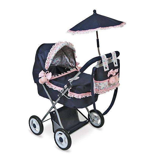 Коляска для куклы с сумкой и зонтиком DeCuevas РомантикТранспорт и коляски для кукол<br>Какая девочка не любит играть в куклы? Кукла для девочки - это не только игрушка, с которой можно весело провести время, кукла - это возможность отрабатывать навыки поведения в обществе, учиться заботе о других, делать прически и одеваться согласно моде и поводу. Любимой кукле обязательно нужна коляска.<br>Эта красивая коляска не только эффектно выглядит, она легко складывается. В ней есть всё необходимое для комфорта - зонтт и сумка на ручке. Игрушка украшена ажурной отделкой, в ней - прочный металлический каркас. Произведена коляска из безопасных для ребенка и качественных материалов.<br><br>Дополнительная информация:<br><br>цвет: разноцветный;<br>материал: пластик, текстиль, металл;<br>есть зонт и сумка на ручке;<br>размер: 38 х 65 х 60 см.<br><br>Коляску с сумкой и зонтиком Романтик от компании DeCuevas можно купить в нашем магазине.<br><br>Ширина мм: 38<br>Глубина мм: 60<br>Высота мм: 65<br>Вес г: 2310<br>Возраст от месяцев: 36<br>Возраст до месяцев: 2147483647<br>Пол: Женский<br>Возраст: Детский<br>SKU: 4975803