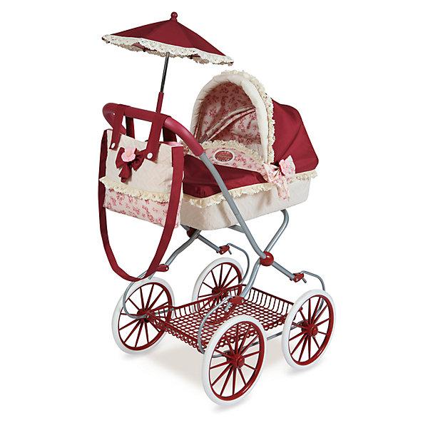 Коляска с сумкой и зонтиком  Мартина, DeCuevasТранспорт и коляски для кукол<br>Кукла для девочки - это не только игрушка, с которой можно весело провести время, кукла - это возможность отрабатывать навыки поведения в обществе, учиться заботе о других, делать прически и одеваться согласно моде и поводу. Любимой кукле обязательно нужна коляска.<br>Эта красивая коляска не только эффектно выглядит, она легко складывается. В ней есть всё необходимое для комфорта - зонт и сумка на ручке. Игрушка украшена ажурной отделкой, в ней - прочный металлический каркас. Произведена коляска из безопасных для ребенка и качественных материалов.<br><br>Дополнительная информация:<br><br>цвет: розовый;<br>материал: пластик, текстиль, металл;<br>есть зонт и сумка на ручке;<br>размер: 68 х 42 х 81 см.<br><br>Коляску с сумкой и зонтиком Мартина от компании DeCuevas можно купить в нашем магазине.<br><br>Ширина мм: 42<br>Глубина мм: 68<br>Высота мм: 81<br>Вес г: 5010<br>Возраст от месяцев: 36<br>Возраст до месяцев: 2147483647<br>Пол: Женский<br>Возраст: Детский<br>SKU: 4975807