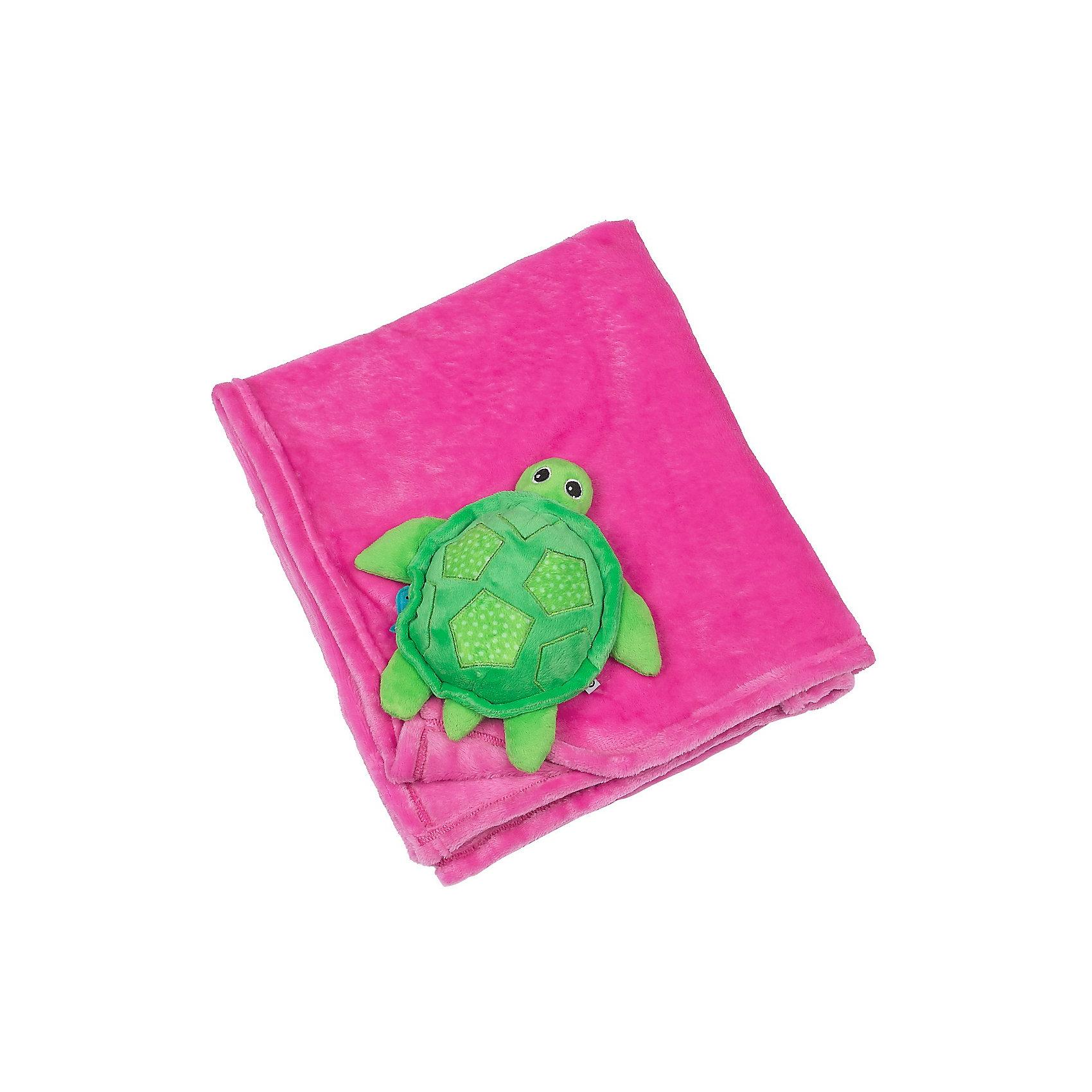 Zoocchini Одеяло с игрушкой Черепашка, Zoocchini, розовый