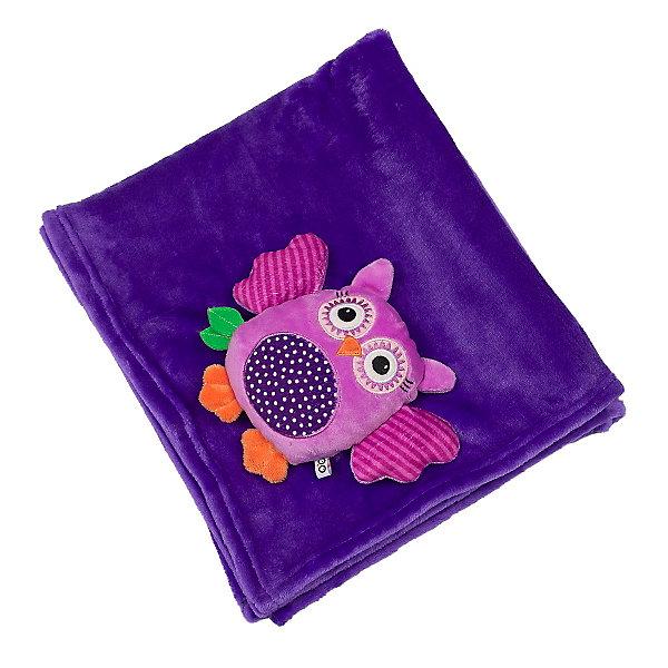 Одеяло с игрушкой Сова, Zoocchini, фиолетовый