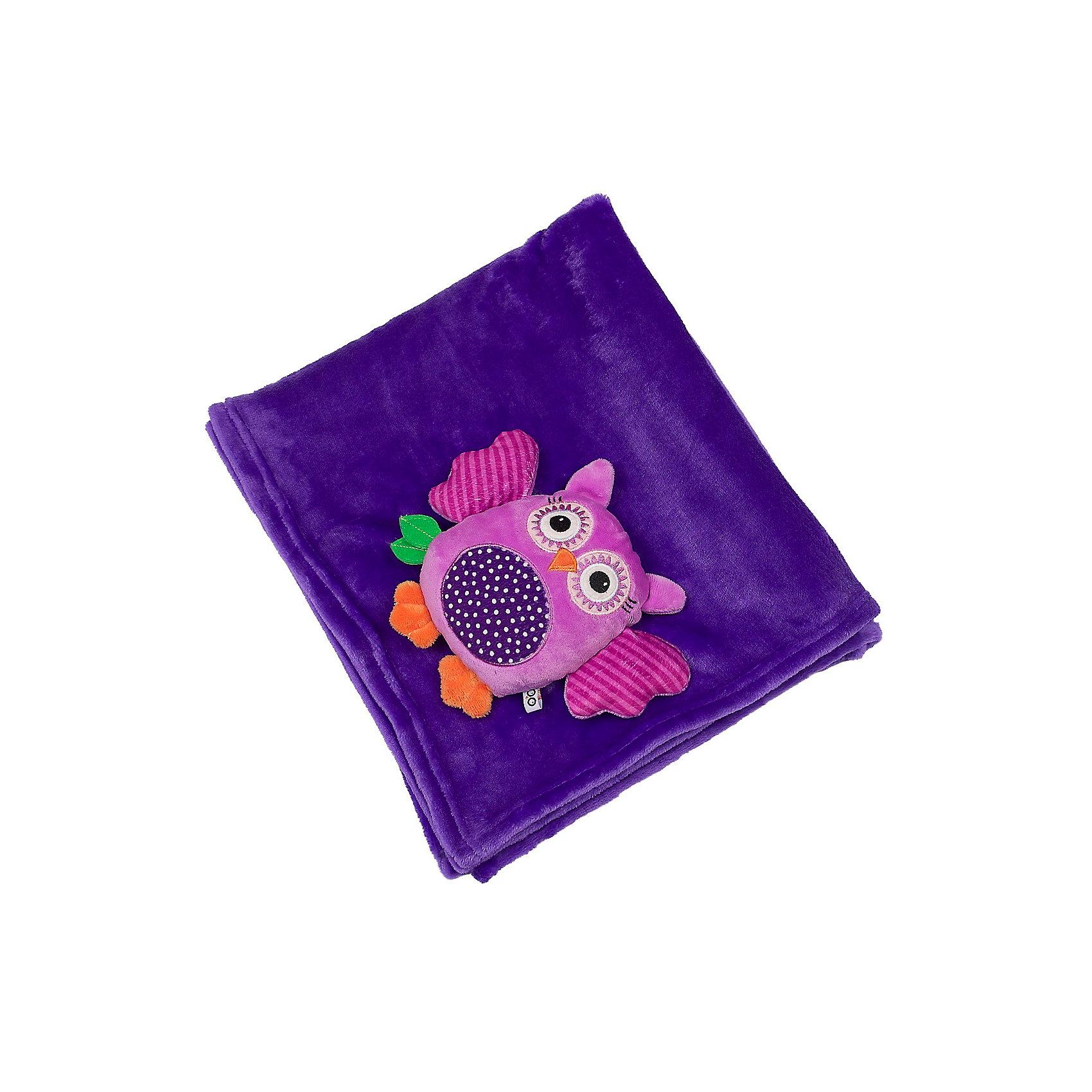 Zoocchini Одеяло с игрушкой Сова, Zoocchini, фиолетовый