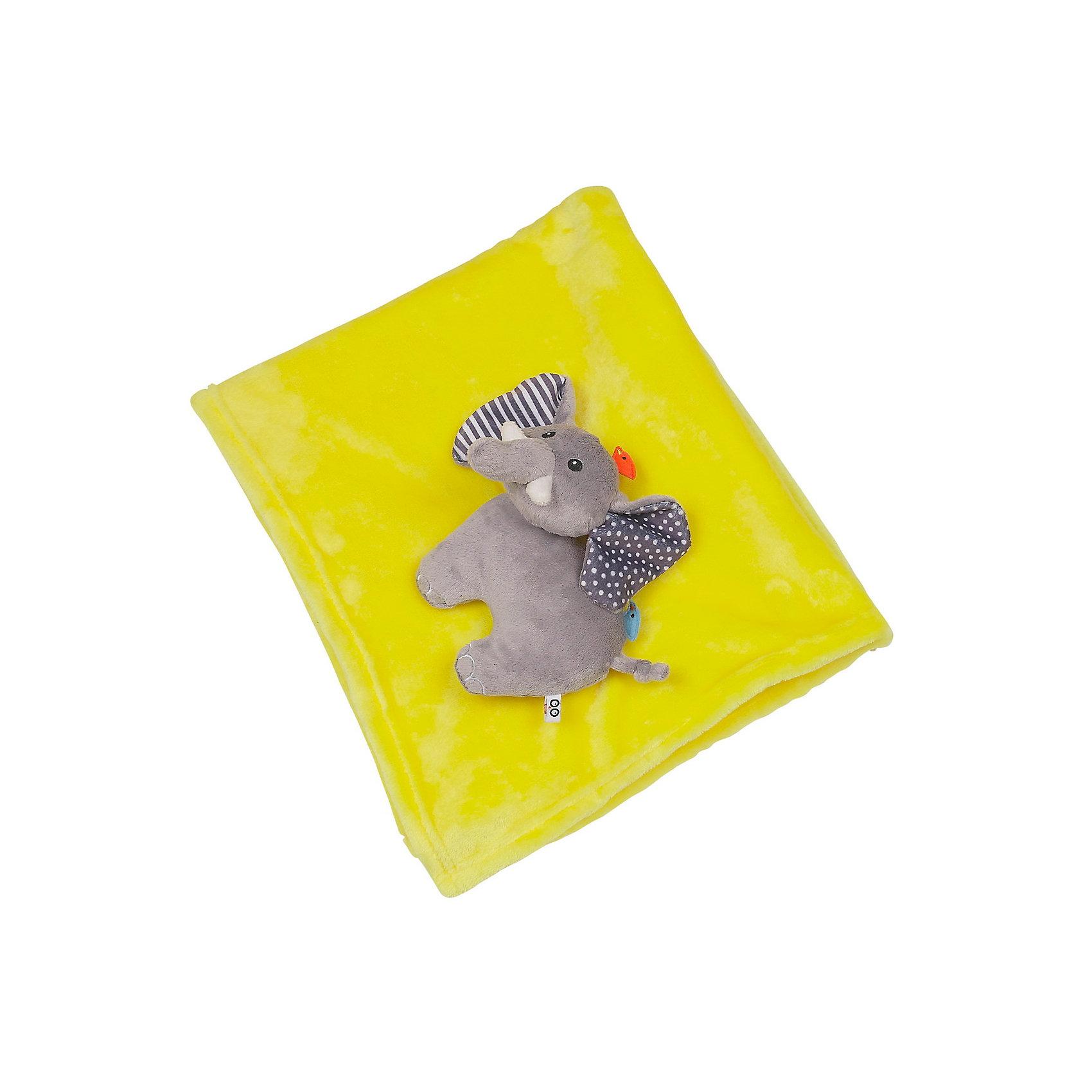 Zoocchini Одеяло с игрушкой Слон, Zoocchini, жёлтый