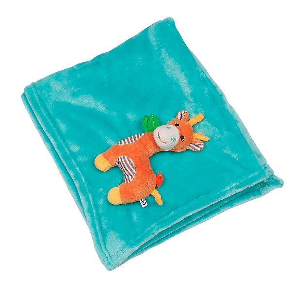 Одеяло с игрушкой Жираф, Zoocchini, акваПледы<br>Одеяло с игрушкой Жираф, аква от американского бренда Zoocchini (Зукинни) поможет в оформлении интерьера детской комнаты и приведет в восторг вашего ребенка. Яркий морской цвет одеяла и мягкий симпатичный друг Жираф на уголке будут радовать глаз и развлекать, а нежная плюшевая ткань очень приятна на ощупь и подарить тепло и комфорт маленькому крохе. Одеяло можно брать с собой на природу, в машину или в коляску во время прогулки прохладным вечером. <br>Дополнительная информация:<br>- Состав: 100% полиэстер<br>- Размер: 68,5 * 99 см.<br>Одеяло с игрушкой Жираф, аква Zoocchini(Зукини) можно купить в нашем интернет-магазине.<br>Подробнее:<br>• Для детей в возрасте: от 0 до 3 лет<br>• Номер товара: 4976016<br>Страна производитель: Китай<br><br>Ширина мм: 255<br>Глубина мм: 75<br>Высота мм: 255<br>Вес г: 418<br>Возраст от месяцев: 0<br>Возраст до месяцев: 36<br>Пол: Унисекс<br>Возраст: Детский<br>SKU: 4976016