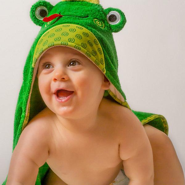 Полотенце с капюшоном Flippy the Frog (0-18 мес.), ZoocchiniПолотенца<br>Полотенце с капюшоном Flippy the Frog (0-18 мес.) Лягушонок Флиппи, от американского бренда Zoocchini (Зукинни) сделает принятие ванны еще уютнее и приятнее. Большое хлопковое полотенце прекрасно впитывает влагу, а веселый капюшон с лягушонком защитит от сквозняков. Яркий зеленый цвет с шелтой окантовкой придет по вкусу всей семье. Отлично малышам до полутора лет. <br>Дополнительная информация:<br><br>- Состав: 100% хлопок<br>- Размер: 76 * 76 см.<br>Полотенце с капюшоном Flippy the Frog (0-18 мес.) Лягушонок Флиппи (Зукини) можно купить в нашем интернет-магазине.<br>Подробнее:<br>• Для детей в возрасте: от 0 до 18 месцев<br>• Номер товара: 4976018<br>Страна производитель: Китай<br>Ширина мм: 250; Глубина мм: 190; Высота мм: 70; Вес г: 390; Возраст от месяцев: 0; Возраст до месяцев: 18; Пол: Унисекс; Возраст: Детский; SKU: 4976018;