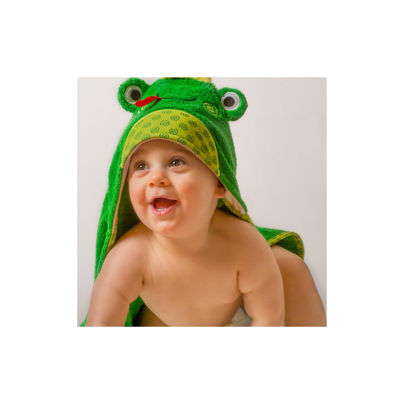 Полотенце с капюшоном Flippy the Frog (0-18 мес.), ZoocchiniПолотенце с капюшоном Flippy the Frog (0-18 мес.) Лягушонок Флиппи, от американского бренда Zoocchini (Зукинни) сделает принятие ванны еще уютнее и приятнее. Большое хлопковое полотенце прекрасно впитывает влагу, а веселый капюшон с лягушонком защитит от сквозняков. Яркий зеленый цвет с шелтой окантовкой придет по вкусу всей семье. Отлично малышам до полутора лет. <br>Дополнительная информация:<br><br>- Состав: 100% хлопок<br>- Размер: 76 * 76 см.<br>Полотенце с капюшоном Flippy the Frog (0-18 мес.) Лягушонок Флиппи (Зукини) можно купить в нашем интернет-магазине.<br>Подробнее:<br>• Для детей в возрасте: от 0 до 18 месцев<br>• Номер товара: 4976018<br>Страна производитель: Китай<br><br>Ширина мм: 250<br>Глубина мм: 190<br>Высота мм: 70<br>Вес г: 390<br>Возраст от месяцев: 0<br>Возраст до месяцев: 18<br>Пол: Унисекс<br>Возраст: Детский<br>SKU: 4976018