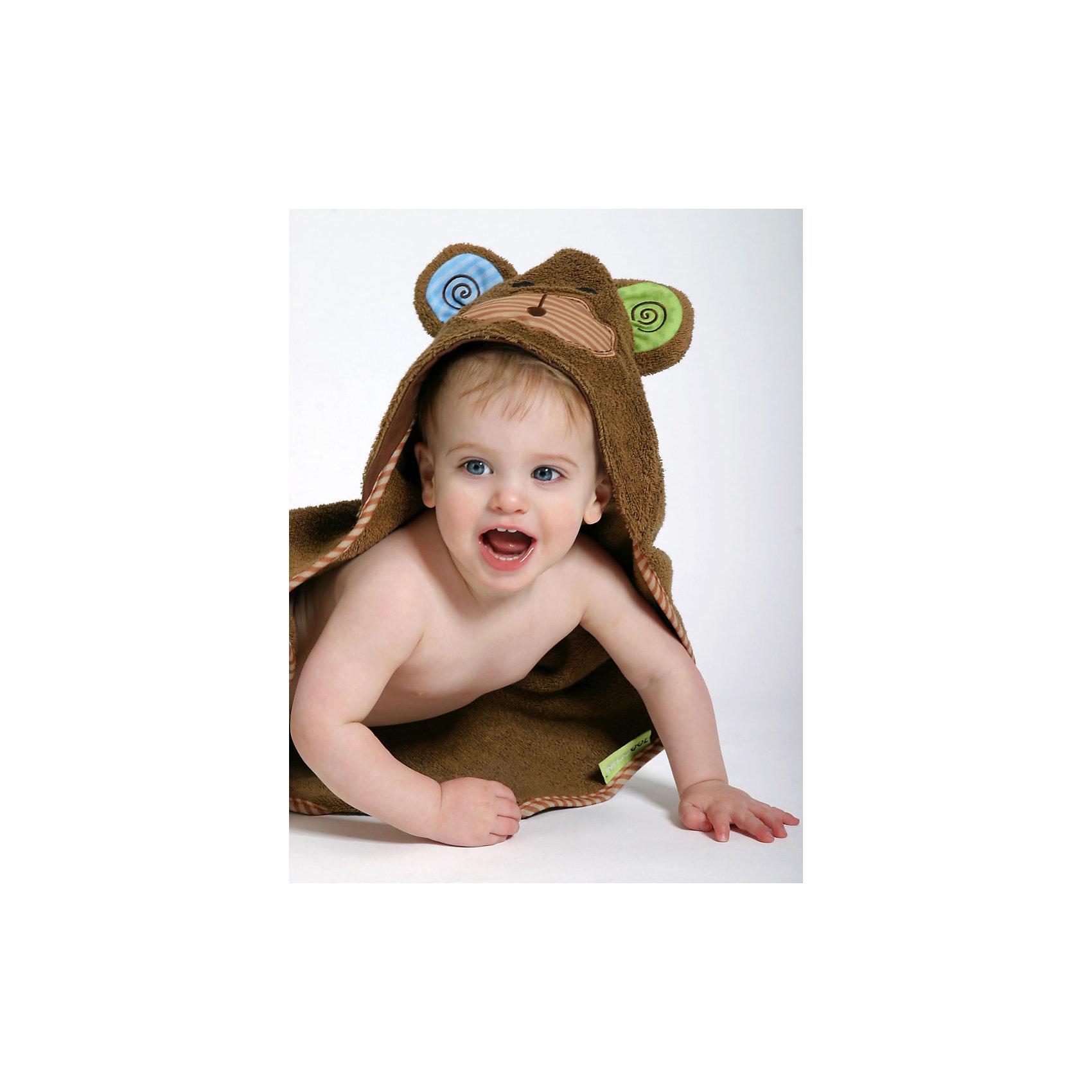 Полотенце с капюшоном Max the Monkey (0-18 мес.), ZoocchiniПолотенца, мочалки, халаты<br>Полотенце с капюшоном Max the Monkey (0-18 мес.) Обезьянка Макс от американского бренда Zoocchini (Зукинни) сделает принятие ванны еще уютнее и приятнее. Большое хлопковое полотенце прекрасно впитывает влагу, а веселый капюшон с обезьянкой защитит от сквозняков. Насыщенный коричневый цвет с окантовкой придет по вкусу всей семье. Отлично подходит малышам до полутора лет. <br>Дополнительная информация:<br><br>- Состав: 100% хлопок<br>- Размер: 76 * 76 см.<br>Полотенце с капюшоном Max the Monkey (0-18 мес.) Обезьянка Макс, Zoocchini (Зукини) можно купить в нашем интернет-магазине.<br>Подробнее:<br>• Для детей в возрасте: от 0 до 18 месцев<br>• Номер товара: 4976021<br>Страна производитель: Китай<br><br>Ширина мм: 250<br>Глубина мм: 190<br>Высота мм: 70<br>Вес г: 390<br>Возраст от месяцев: 0<br>Возраст до месяцев: 18<br>Пол: Унисекс<br>Возраст: Детский<br>SKU: 4976021