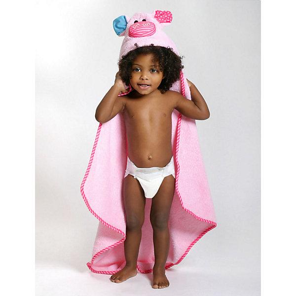 Полотенце с капюшоном Pinky the Piglet (0-18 мес.), ZoocchiniПолотенца<br>Полотенце с капюшоном Pinky the Piglet (0-18 мес.) Поросенок Пинки от американского бренда Zoocchini (Зукинни) сделает принятие ванны еще уютнее и приятнее. Большое хлопковое полотенце прекрасно впитывает влагу, а веселый капюшон с поросенком защитит от сквозняков. Приятный розовый цвет с полосатой окантовкой придет по вкусу всей семье. Отлично подходит малышам до полутора лет. <br>Дополнительная информация:<br><br>- Состав: 100% хлопок<br>- Размер: 76 * 76 см.<br>Полотенце с капюшоном Pinky the Piglet (0-18 мес.) Поросенок Пинки, Zoocchini (Зукини) можно купить в нашем интернет-магазине.<br>Подробнее:<br>• Для детей в возрасте: от 0 до 18 месцев<br>• Номер товара: 4976022<br>Страна производитель: Китай<br><br>Ширина мм: 250<br>Глубина мм: 190<br>Высота мм: 70<br>Вес г: 390<br>Возраст от месяцев: 0<br>Возраст до месяцев: 18<br>Пол: Унисекс<br>Возраст: Детский<br>SKU: 4976022