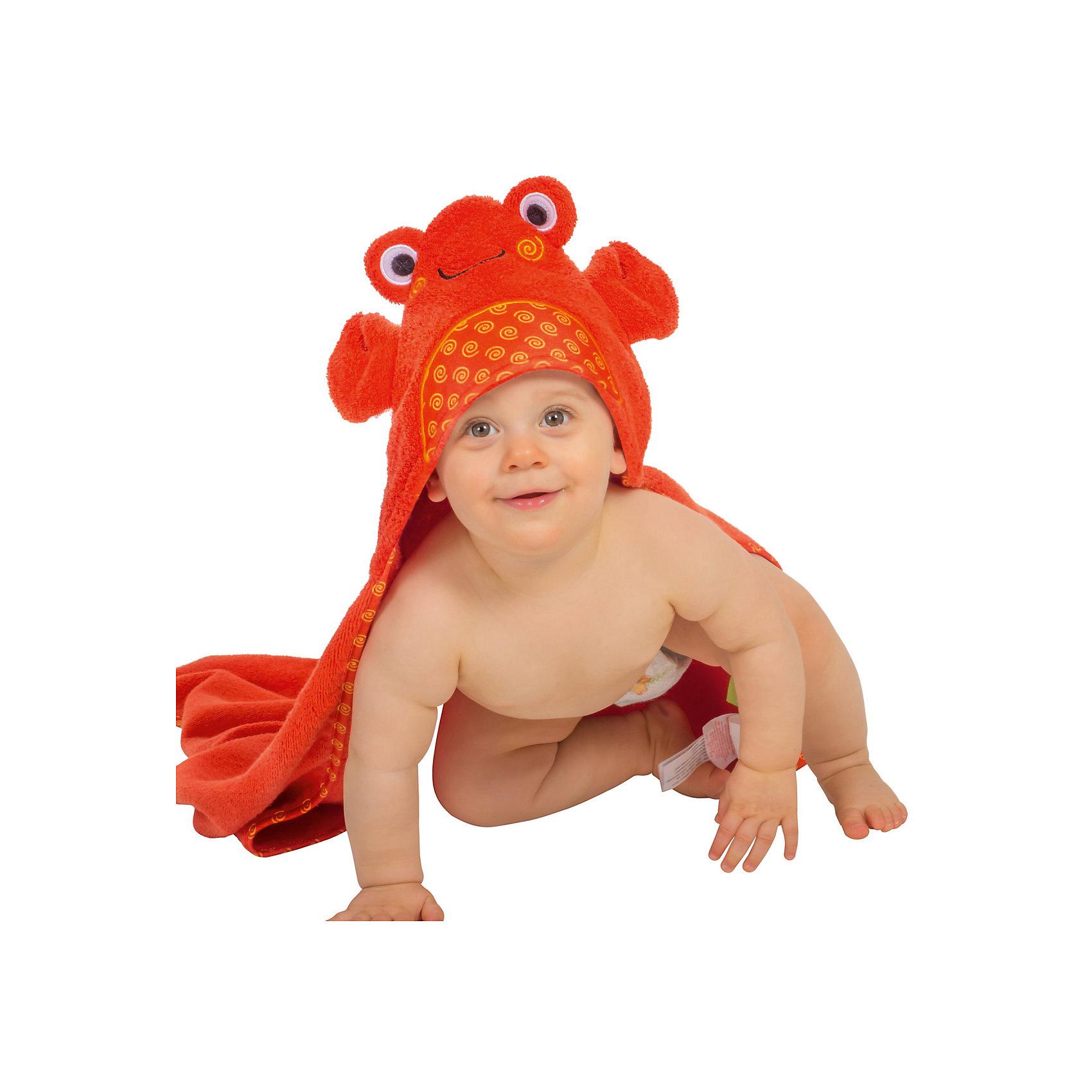 Zoocchini Полотенце с капюшоном Charlie the Crab (0-18 мес.), Zoocchini полотенца candide полотенце с капюшоном the original 70х70 см