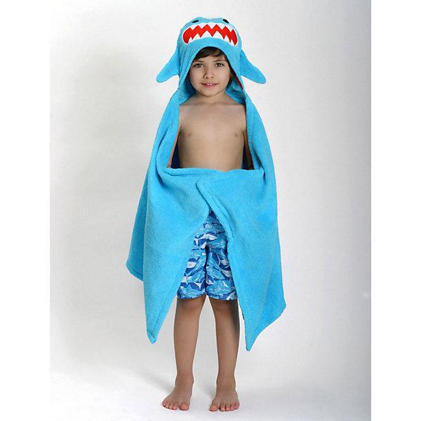 Полотенце с капюшоном Sherman the Shark (от 2 лет), Zoocchini