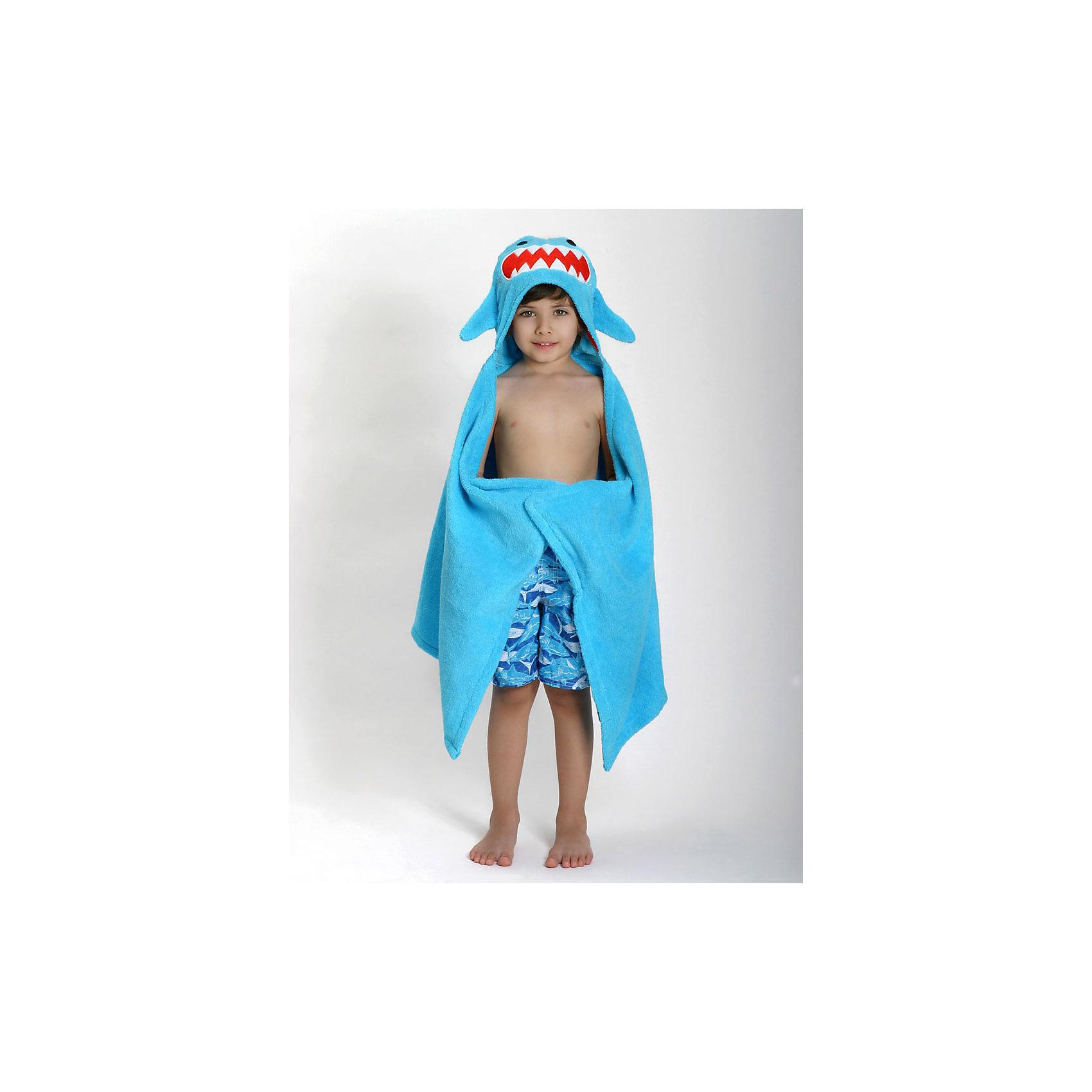 Полотенце с капюшоном Sherman the Shark (от 2 лет), ZoocchiniПолотенце с капюшоном Sherman the Shark (от 2 лет) Акула Шерман от американского бренда Zoocchini (Зукинни) сделает принятие ванны еще уютнее и приятнее. Специалисты из США и Канады, объединенные любовью к животным, создали компанию с товарами для детей в виде зверей. Большое хлопковое полотенце прекрасно впитывает влагу, а забавный капюшон с качественно вышитой акулой защищает от сквозняков. По краям имеются дополнительные уголки для рук в виде плавников, превращая полотенце почти в костюм, отличный повод для веселого маскарада! Приятный сине-бирюзовый цвет и дизайн придут по вкусу всей семье. Отлично подходит деткам от двух лет. <br>Дополнительная информация:<br><br>- Состав: 100% хлопок<br>- Размер: 127 * 55 см.<br>Полотенце с капюшоном Sherman the Shark (от 2 лет) Акула Шерман, Zoocchini (Зукини) можно купить в нашем интернет-магазине.<br>Подробнее:<br>• Для детей в возрасте: от 2 лет<br>• Номер товара: 4976025<br>Страна производитель: Китай<br><br>Ширина мм: 305<br>Глубина мм: 50<br>Высота мм: 305<br>Вес г: 594<br>Возраст от месяцев: 24<br>Возраст до месяцев: 72<br>Пол: Унисекс<br>Возраст: Детский<br>SKU: 4976025