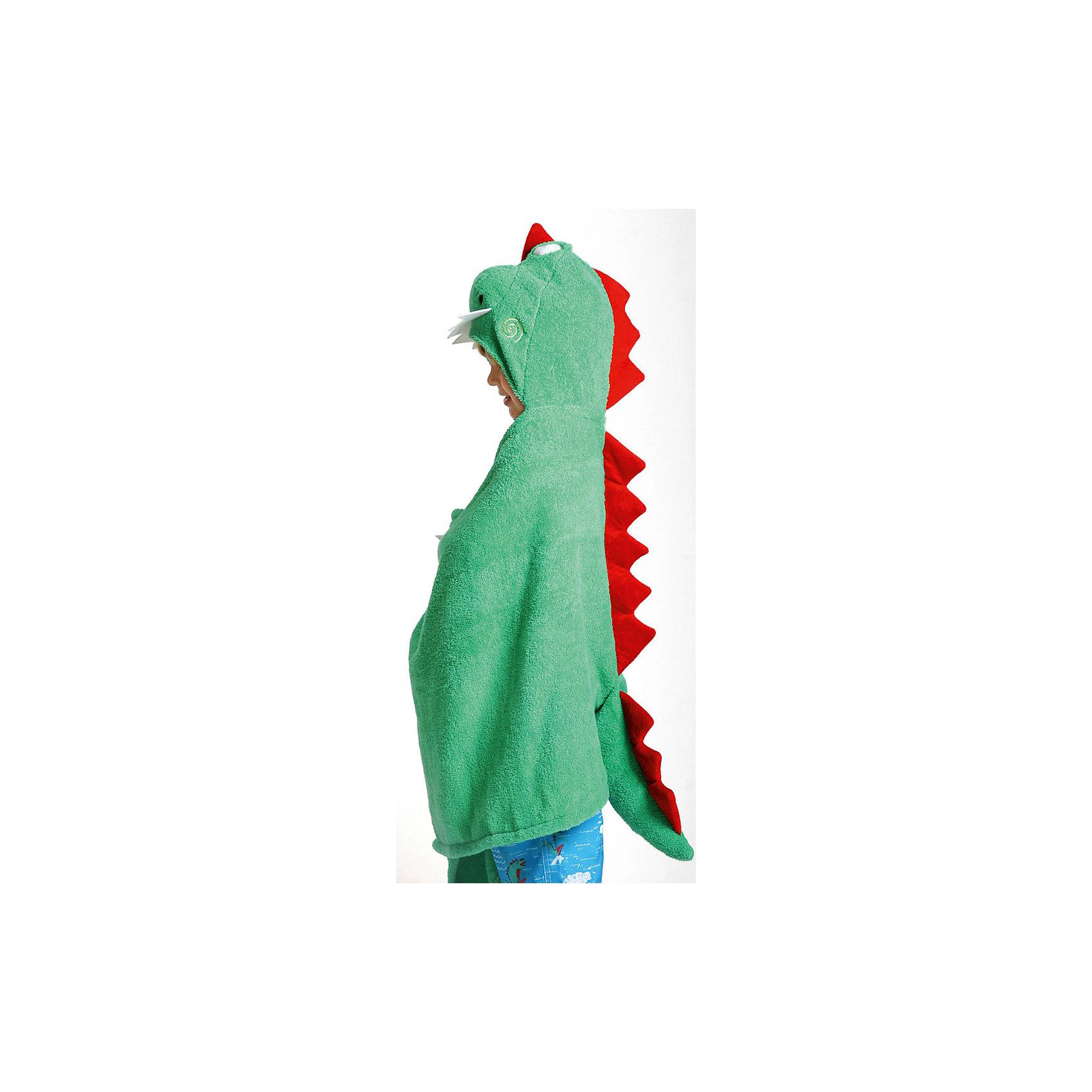 Полотенце с капюшоном Devin the Dinosaur (от 2 лет), ZoocchiniДомашний текстиль<br>Полотенце с капюшоном Devin the Dinosaur (от 2 лет) Динозавр Дэвин от американского бренда Zoocchini (Зукинни) сделает принятие ванны еще уютнее и приятнее. Специалисты из США и Канады, объединенные любовью к животным, создали компанию с товарами для детей в виде зверей. Большое хлопковое полотенце прекрасно впитывает влагу, а забавный капюшон с качественно вышитым динозавриком защищает от сквозняков. По краям имеются дополнительные уголки для рук в виде лапок, превращая полотенце почти в костюм, отличный повод для веселого маскарада! Насыщенный зеленый цвет и дизайн придут по вкусу всей семье. Отлично подходит деткам от двух лет. <br>Дополнительная информация:<br><br>- Состав: 100% хлопок<br>- Размер: 127 * 55 см.<br>Полотенце с капюшоном Devin the Dinosaur (от 2 лет) Динозавр Дэвин, Zoocchini (Зукини) можно купить в нашем интернет-магазине.<br>Подробнее:<br>• Для детей в возрасте: от 2 лет<br>• Номер товара: 4976026<br>Страна производитель: Китай<br><br>Ширина мм: 305<br>Глубина мм: 50<br>Высота мм: 305<br>Вес г: 594<br>Возраст от месяцев: 24<br>Возраст до месяцев: 72<br>Пол: Унисекс<br>Возраст: Детский<br>SKU: 4976026