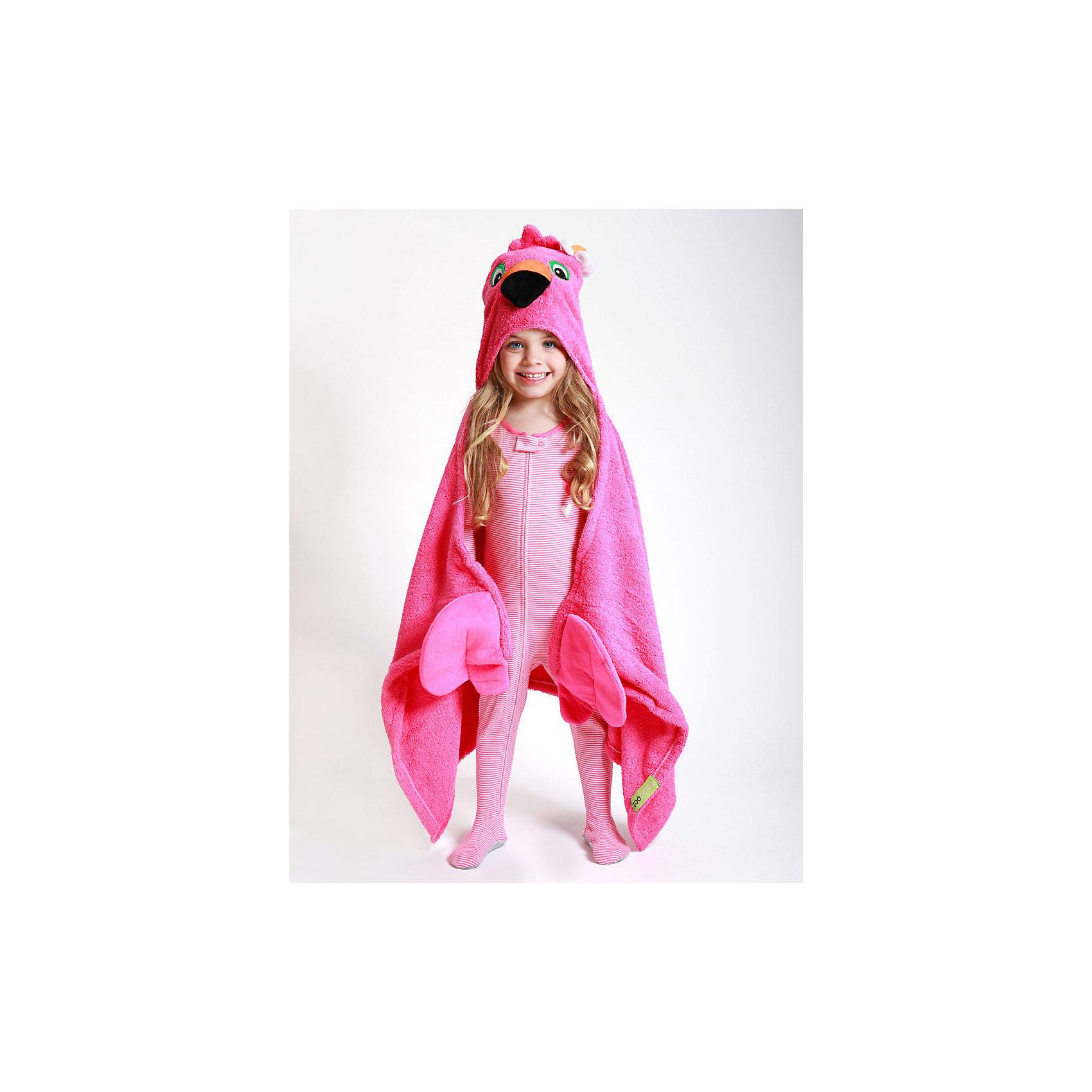 Полотенце с капюшоном Franny the Flamingo (от 2 лет), Zoocchini