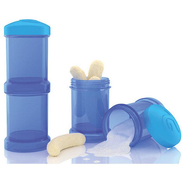Контейнер для сухой смеси 100 мл. 2 шт., TwistShake, синийДетская посуда<br>Контейнер для сухой смеси 100 мл. 2 шт., синий от шведского бренда Twistshake (Твистшейк), придет по вкусу малышам и современным родителям. Эти контейнеры прекрасно подходят для хранения детской смеси и оптимальны в использовании, их горлышко меньше горлышка любых бутылочек Twistshake (Твистшейк), потому позволяют пересыпать смесь без просыпания. Контейнеры также подходят для хранения каш, фруктов, сухофруктов, печенья или других необходимых на прогулке или в дороге продуктов. Материал контейнеров не содержит бисфенол А. Удобная форма горлышка обеспечивает доступ к полной промывки контейнера, можно стерилизовать как холодным, так и горячим методами. <br><br>Дополнительная информация:<br><br>- В комплект входит: два контейнера по 100 мл. <br>- Состав: 100% пропиллен<br><br>Контейнер для сухой смеси 100 мл. 2 шт., TwistShake, синий можно купить в нашем интернет-магазине.<br>Подробнее:<br>• Для детей в возрасте: от 0 лет <br>• Номер товара: 4976057<br>Страна производитель: Китай<br><br>Ширина мм: 55<br>Глубина мм: 55<br>Высота мм: 150<br>Вес г: 75<br>Возраст от месяцев: 0<br>Возраст до месяцев: 36<br>Пол: Унисекс<br>Возраст: Детский<br>SKU: 4976057