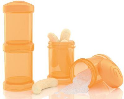 Twistshake Контейнер Для Сухой Смеси 100 Мл. 2 Шт., Twistshake, Оранжевый