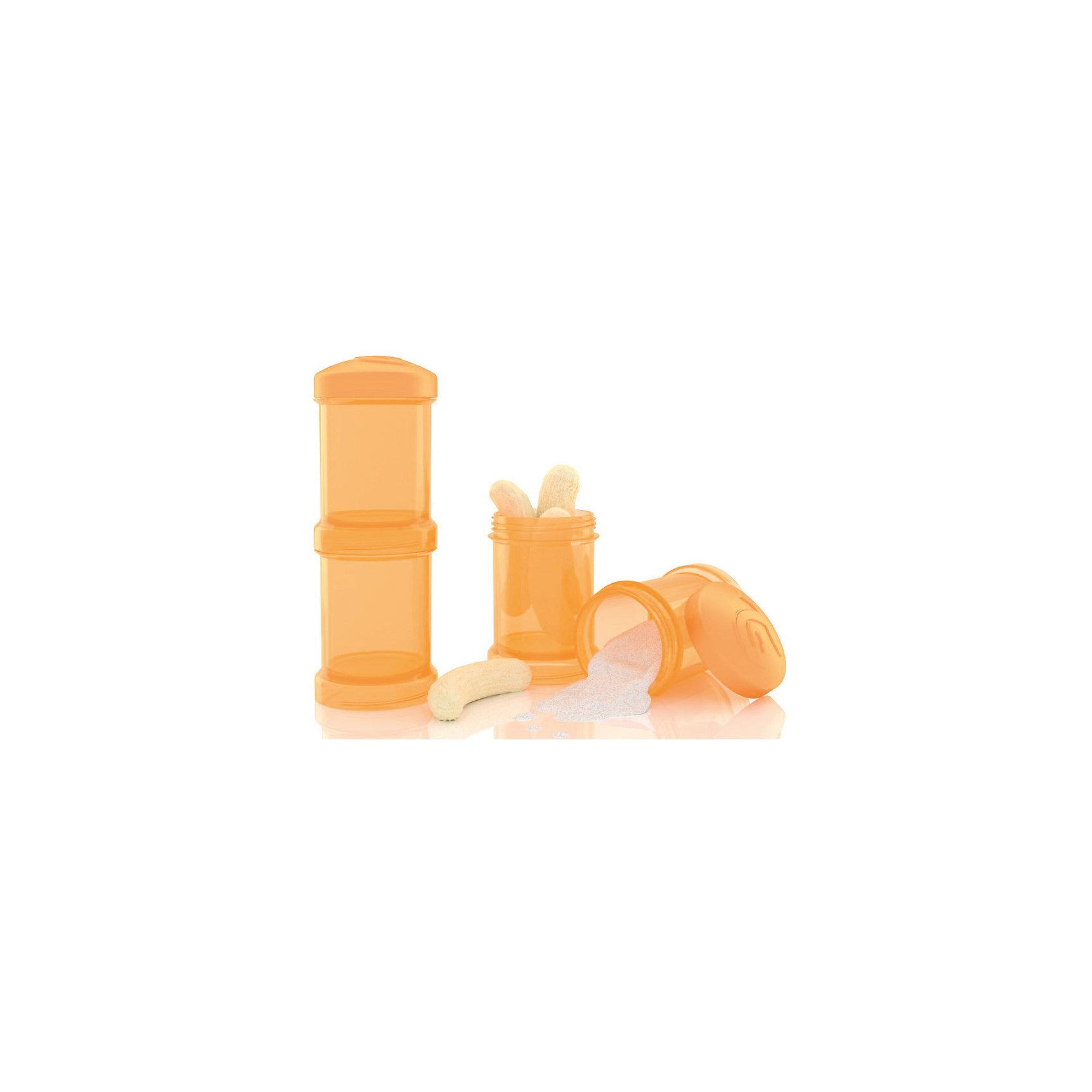 Контейнер для сухой смеси 100 мл. 2 шт., TwistShake, оранжевыйПосуда для малышей<br>Контейнер для сухой смеси 100 мл. 2 шт., оранжевый от шведского бренда Twistshake (Твистшейк), придет по вкусу малышам и современным родителям. Эти контейнеры прекрасно подходят для хранения детской смеси и оптимальны в использовании, их горлышко меньше горлышка любых бутылочек Twistshake (Твистшейк), потому позволяют пересыпать смесь без просыпания. Контейнеры также подходят для хранения каш, фруктов, сухофруктов, печенья или других необходимых на прогулке или в дороге продуктов. Материал контейнеров не содержит бисфенол А. Удобная форма горлышка обеспечивает доступ к полной промывки контейнера, можно стерилизовать как холодным, так и горячим методами. <br><br>Дополнительная информация:<br><br>- В комплект входит: два контейнера по 100 мл. <br>- Состав: 100% пропиллен<br><br>Контейнер для сухой смеси 100 мл. 2 шт., TwistShake, оранжевый можно купить в нашем интернет-магазине.<br>Подробнее:<br>• Для детей в возрасте: от 0 лет <br>• Номер товара: 4976058<br>Страна производитель: Китай<br><br>Ширина мм: 55<br>Глубина мм: 55<br>Высота мм: 150<br>Вес г: 75<br>Возраст от месяцев: 0<br>Возраст до месяцев: 36<br>Пол: Унисекс<br>Возраст: Детский<br>SKU: 4976058