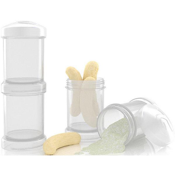 Контейнер для сухой смеси 100 мл. 2 шт., TwistShake, белыйДетская посуда<br>Контейнер для сухой смеси 100 мл. 2 шт., белый от шведского бренда Twistshake (Твистшейк), придет по вкусу малышам и современным родителям. Эти контейнеры прекрасно подходят для хранения детской смеси и оптимальны в использовании, их горлышко меньше горлышка любых бутылочек Twistshake (Твистшейк), потому позволяют пересыпать смесь без просыпания. Контейнеры также подходят для хранения каш, фруктов, сухофруктов, печенья или других необходимых на прогулке или в дороге продуктов. Материал контейнеров не содержит бисфенол А. Удобная форма горлышка обеспечивает доступ к полной промывки контейнера, можно стерилизовать как холодным, так и горячим методами. <br><br>Дополнительная информация:<br><br>- В комплект входит: два контейнера по 100 мл. <br>- Состав: 100% пропиллен<br><br>Контейнер для сухой смеси 100 мл. 2 шт., TwistShake, белый можно купить в нашем интернет-магазине.<br>Подробнее:<br>• Для детей в возрасте: от 0 лет <br>• Номер товара: 4976061<br>Страна производитель: Китай<br><br>Ширина мм: 55<br>Глубина мм: 55<br>Высота мм: 150<br>Вес г: 75<br>Возраст от месяцев: 0<br>Возраст до месяцев: 36<br>Пол: Унисекс<br>Возраст: Детский<br>SKU: 4976061