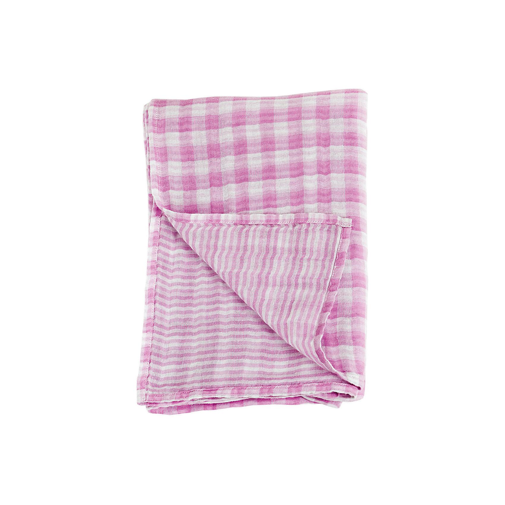 Муслиновая пелёнка двусторонняя 120х120, Lulujo, Passion PinkМуслиновая пелёнка двусторонняя 120х120, Lulujo, Passion Pink это двухсторонние мягкие пеленки большого размера предназначенные как для пеленания, так и покрывала или использования в качестве обычных простыней. Приятные розовые клетка и полоски на нейтральном белом фоне помогут создать атмосферу уюта в комнате малыша. Хлопковый муслин обеспечит малышу комфорт и тепло, материал отлично пропускает вохдух, с этой тканью кожа ребенка дышит.<br>Дополнительная информация:<br><br>- В комплект входит: 1 пеленка<br>- Тип ткани: Муслин<br>- Состав: 100% хлопок <br>- Размер: 120 * 120 см. <br>- Cтирка: машинная, 40 градусов<br><br>Муслиновую пелёнку двустороннюю 120х120, Lulujo, Passion Pink можно купить в нашем интернет-магазине.<br>Подробнее:<br>• Для детей в возрасте: от 0 лет<br>• Номер товара: 4976064<br>Страна производитель: Турция<br><br>Ширина мм: 100<br>Глубина мм: 55<br>Высота мм: 240<br>Вес г: 188<br>Возраст от месяцев: 0<br>Возраст до месяцев: 36<br>Пол: Унисекс<br>Возраст: Детский<br>SKU: 4976064