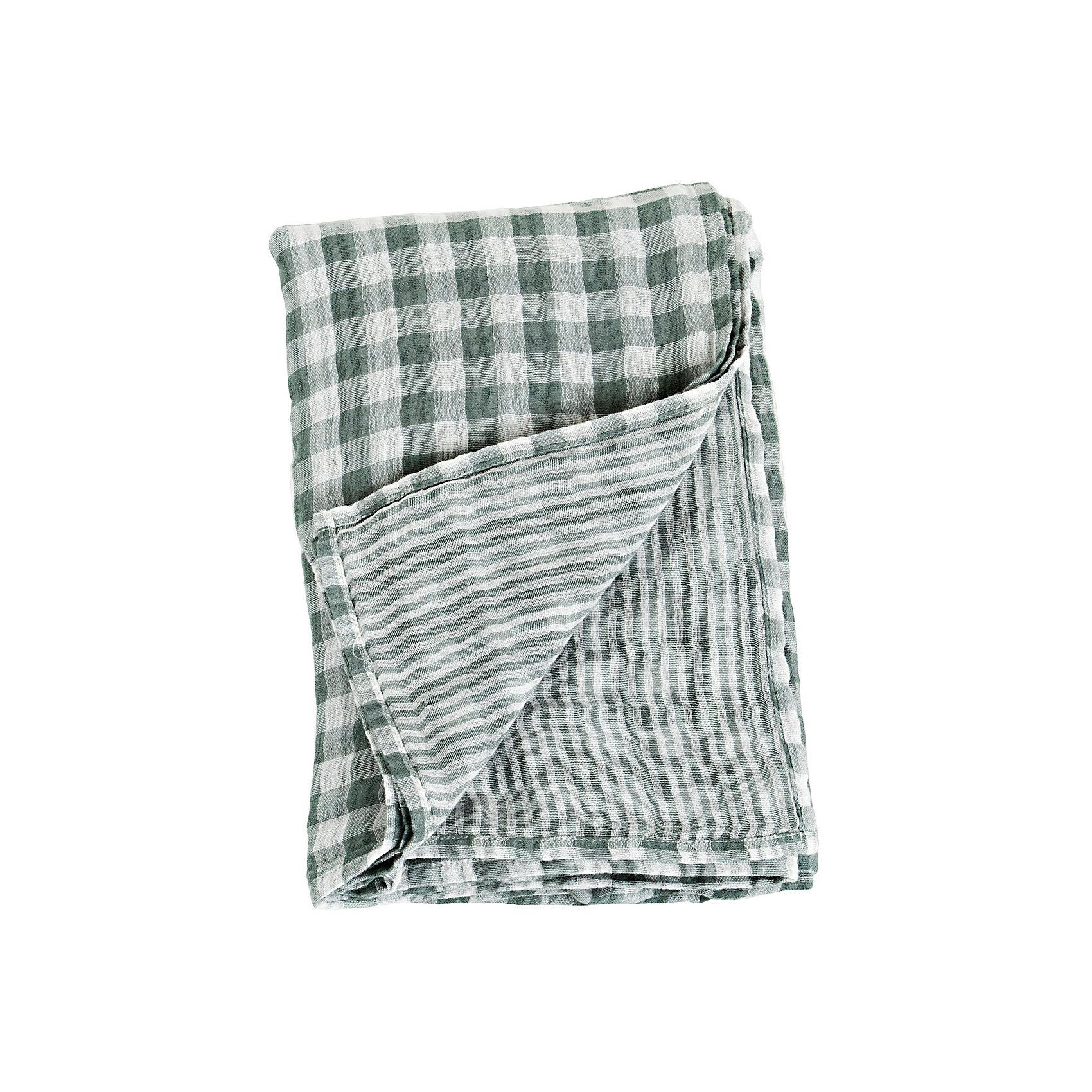 Муслиновая пелёнка двусторонняя 120х120, Lulujo, Warm GreyМуслиновая пелёнка двусторонняя 120х120, Lulujo, Warm Grey это двухсторонние мягкие пеленки большого размера предназначенные как для пеленания, так и покрывала или использования в качестве обычных простыней. Приятные тепло-серые клетка и полоски на нейтральном белом фоне помогут создать атмосферу уюта в комнате малыша. Хлопковый муслин обеспечит малышу комфорт и тепло, материал отлично пропускает вохдух, с этой тканью кожа ребенка дышит.<br>Дополнительная информация:<br><br>- В комплект входит: 1 пеленка<br>- Тип ткани: Муслин<br>- Состав: 100% хлопок  <br>- Размер: 120 * 120 см. <br>- Cтирка: машинная, 40 градусов<br><br><br>Муслиновую пелёнку двустороннюю 120х120, Lulujo, Warm Grey можно купить в нашем интернет-магазине.<br>Подробнее:<br>• Для детей в возрасте: от 0 лет<br>• Номер товара: 4976065<br>Страна производитель: Турция<br><br>Ширина мм: 100<br>Глубина мм: 55<br>Высота мм: 240<br>Вес г: 188<br>Возраст от месяцев: 0<br>Возраст до месяцев: 36<br>Пол: Унисекс<br>Возраст: Детский<br>SKU: 4976065