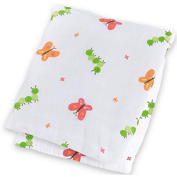 Муслиновая пелёнка Garden Party 120х120, LulujoПеленки для новорожденных<br>Муслиновая пелёнка Garden Party 120х120, Lulujo, это двухсторонняя мягкая пеленка большого размера, предназначена как для пеленания, так и покрывала или использования в виде обычных простыней. Яркие бабочки, гусеницы и цветочки на нейтральном белом фоне помогут создать атмосферу уюта в комнате малыша. Хлопковый муслин обеспечит малышу комфорт и тепло, материал отлично пропускает воздух, с этой тканью кожа ребенка дышит.<br>Дополнительная информация:<br><br>- В комплект входит: 1 пеленка<br>- Тип ткани: Муслин<br>- Состав: 100% хлопок <br>- Размер: 120 * 120 см. <br>- Cтирка: машинная, 40 градусов<br><br>Муслиновую пелёнку Garden Party 120х120, Lulujo можно купить в нашем интернет-магазине.<br>Подробнее:<br>• Для детей в возрасте: от 0 лет<br>• Номер товара: 4976070<br>Страна производитель: Турция<br>Ширина мм: 100; Глубина мм: 55; Высота мм: 240; Вес г: 160; Возраст от месяцев: 0; Возраст до месяцев: 36; Пол: Унисекс; Возраст: Детский; SKU: 4976070;