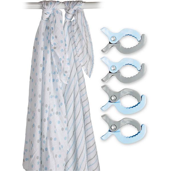 Муслиновая пелёнка 2 шт. с клипсами 4 шт., 120х120, Lulujo, синийПеленки для новорожденных<br>Муслиновая пелёнка 2 шт. с клипсами 4 шт., 120х120, Lulujo, синий - это набор из двух двухслойных мягких пеленок большого размера, предназначенных как для пеленания, так и покрывала или использования в виде обычных простыней. Четыре зажима, совпадающих с пеленками по цвету позволяют вешать пеленки на коляски, или в машине, защищая малыша от ярких солнечных лучей. Приятные рисунки синего и серого цветов помогут создать атмосферу уюта, а хлопковый муслин обеспечит малышу комфорт и тепло, материал отлично пропускает воздух, с этой тканью кожа ребенка дышит.<br>Дополнительная информация:<br><br>- В комплект входит: 2 пеленки, 4 зажима<br>- Тип ткани: Муслин<br>- Состав: 100% хлопок, пластик<br>- Размер: 120 * 120 см. <br>- Cтирка: машинная, 40 градусов<br><br>Муслиновые пелёнки 2 шт. с клипсами 4 шт., 120х120, Lulujo, синий можно купить в нашем интернет-магазине.<br>Подробнее:<br>• Для детей в возрасте: от 0 лет<br>• Номер товара: 4976072<br>Страна производитель: Турция<br><br>Ширина мм: 270<br>Глубина мм: 60<br>Высота мм: 270<br>Вес г: 536<br>Возраст от месяцев: 0<br>Возраст до месяцев: 36<br>Пол: Унисекс<br>Возраст: Детский<br>SKU: 4976072