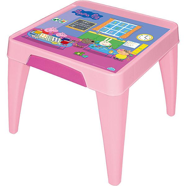 Стол Я расту  Свинка Пеппа, Little Angel, розовыйДетские столы и стулья<br>Детский стол от Little Angel – Ваш верный спутник в организации комфорта для малыша. Оптимальные пропорции и продуманная с учетом всех потребностей ребенка конструкция, делают стол идеальным для обучения, игр и приема пищи.  Закругленные углы столешницы и ножек для безопасности малыша. Выдвижной ящик для хранения важных мелочей. Углубления по краям столешницы для карандашей, ручек и кисточек. Нескользящая поверхность стола для комфортных игр и обучения. Противоскользящие накладки на ножках для использования на любой поверхности. Особо прочная конструкция ножек стола для надежной и безопасной эксплуатации.<br><br>Ширина мм: 605<br>Глубина мм: 605<br>Высота мм: 500<br>Вес г: 3600<br>Возраст от месяцев: 24<br>Возраст до месяцев: 72<br>Пол: Женский<br>Возраст: Детский<br>SKU: 4976092