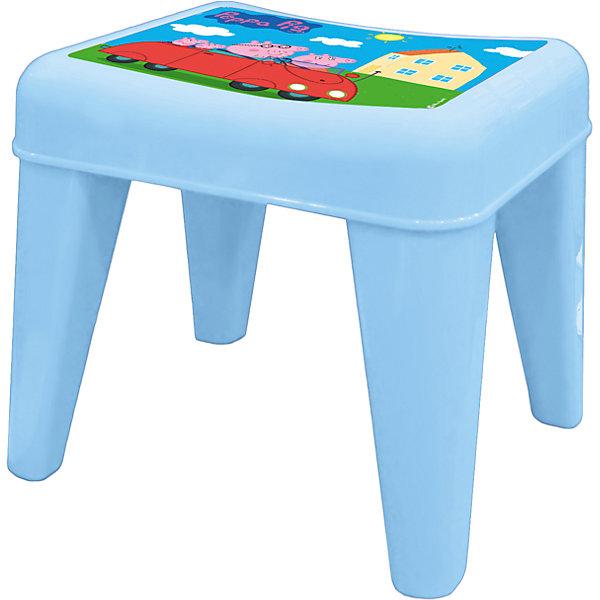 Табурет Я расту  Свинка Пеппа, Little Angel, голубойДетские столы и стулья<br>Детский табурет – незаменимая вещь для растущего малыша. Он будет верным помощником не только в детской, но и в ванной, на кухне и в прихожей. Сидение разработано с учетом анатомических особенностей ребенка. Нескользящая поверхность сидения и противоскользящие накладки на ножках для использования на любой поверхности. Особо прочная конструкция ножек табурета для надежной и безопасной эксплуатации.<br><br>Ширина мм: 335<br>Глубина мм: 290<br>Высота мм: 300<br>Вес г: 1200<br>Возраст от месяцев: 24<br>Возраст до месяцев: 72<br>Пол: Мужской<br>Возраст: Детский<br>SKU: 4976093