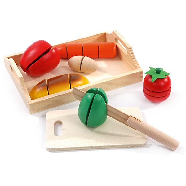 Игровой набор средний Готовим завтрак, Мир деревянных игрушекИгрушечные продукты питания<br>Дети спешат узнавать мир, и делать это приятнее, играя! Развивающие игрушки помогают малышу быстрее освоить нужные навыки: они развивают мелкую моторику, цветовосприятие, умение логически размышлять, внимание, способность распознавать разные геометрические формы и многое другое.<br>Эта игрушка в виде набора продуктов сделана из натурального дерева, отлично обработанного и безопасного для малышей. Предметы состоят из нескольких частей, соединенных лентой. Можно делать вид, что их режешь! Игра с таким набором может надолго занять ребенка!<br><br>Дополнительная информация:<br><br>цвет: разноцветный;<br>материал: дерево;<br>комплектация: разделочная доска, нож,батон, морковь, яблоко, яйцо, помидор, перец;<br>размер упаковки: 24 x 6 x17 см.<br><br>Игровой набор средний Готовим завтрак от компании Мир деревянных игрушек можно купить в нашем магазине.<br><br>Ширина мм: 160<br>Глубина мм: 20<br>Высота мм: 230<br>Вес г: 845<br>Возраст от месяцев: 36<br>Возраст до месяцев: 2147483647<br>Пол: Унисекс<br>Возраст: Детский<br>SKU: 4976688