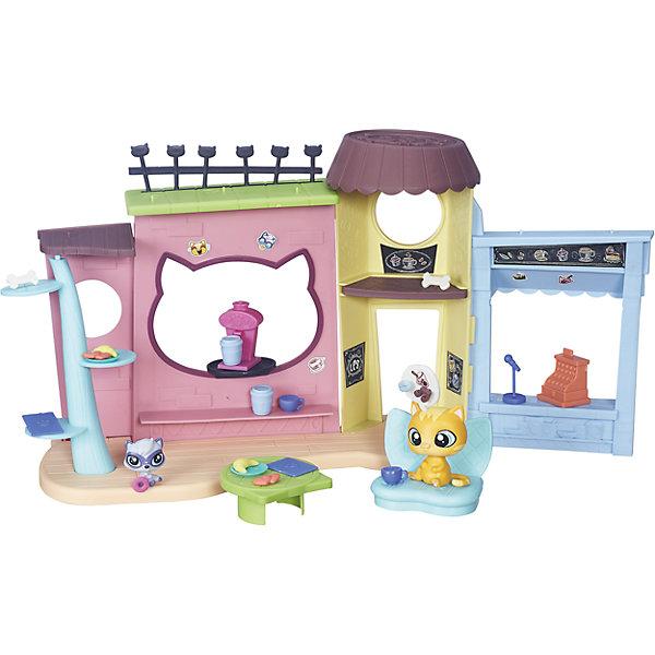 Игровой набор Кафе, Littlest Pet ShopИгрушки<br>Игровой набор Кафе, Littlest Pet Shop<br><br>Характеристики:<br><br>• Возраст: от 3 лет<br>• Материал: пластик<br>• В наборе: 2 зверюшки, кафе, аксессуары, мебель<br><br>Кафе с героями любимого мультсериала «Маленький зоомагазинчик». Набор состоит из целого кафе, сделанного по мотивам настоящего. Ребенок сможет расставить мебель, украсить ее и создать собственный дизайн кафе. Маленькие герои из комплекта будут владельцами или посетителями по желанию малыша. Набор изготовлен из качественного и безопасного материала.<br><br>Игровой набор Кафе, Littlest Pet Shop можно купить в нашем интернет-магазине.<br><br>Ширина мм: 60<br>Глубина мм: 375<br>Высота мм: 276<br>Вес г: 634<br>Возраст от месяцев: 48<br>Возраст до месяцев: 120<br>Пол: Женский<br>Возраст: Детский<br>SKU: 4978225