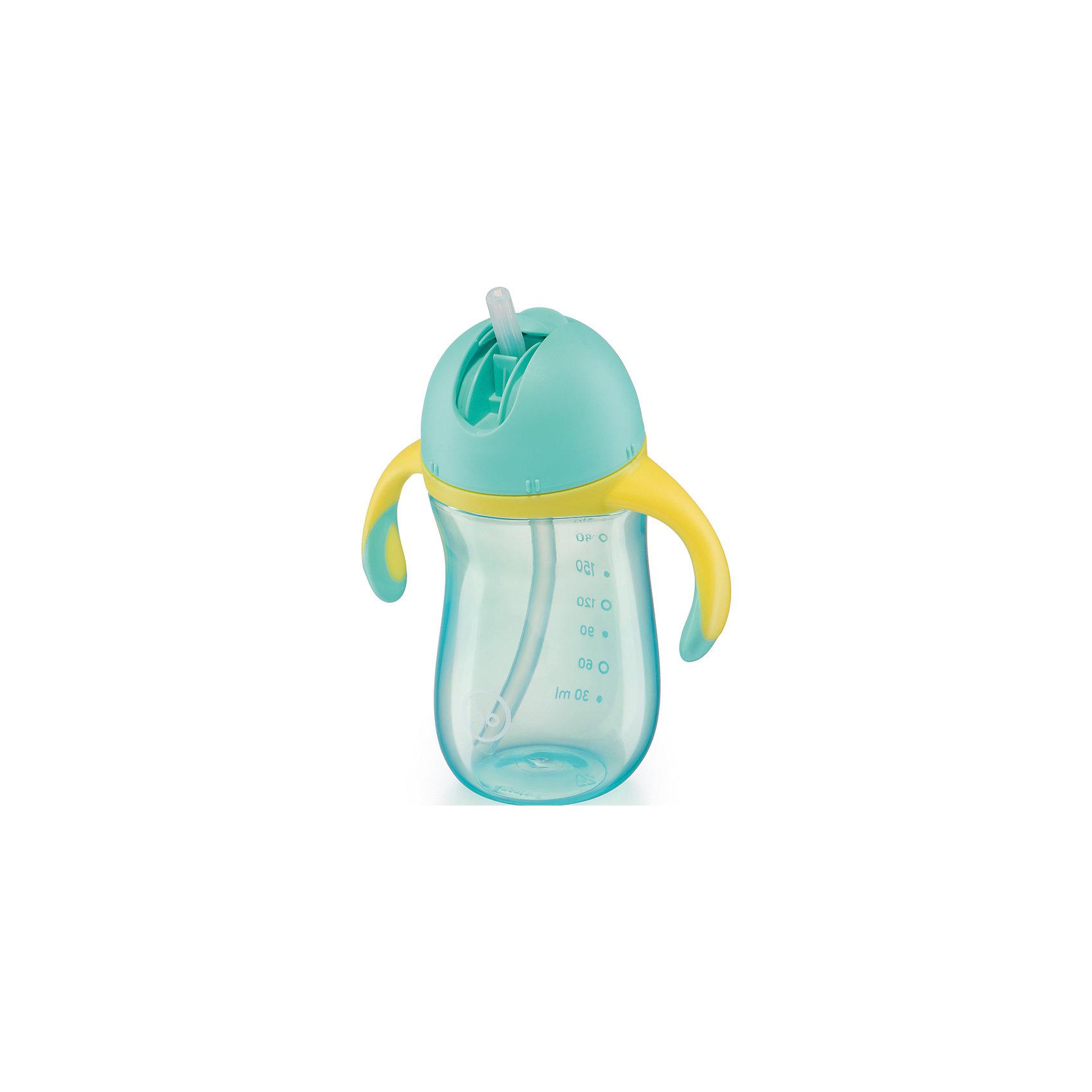 Happy Baby Поильник с трубочкой и ручками STAR FEEDING CUP, Happy Baby, синий happy baby поильник с ручками с 6 мес