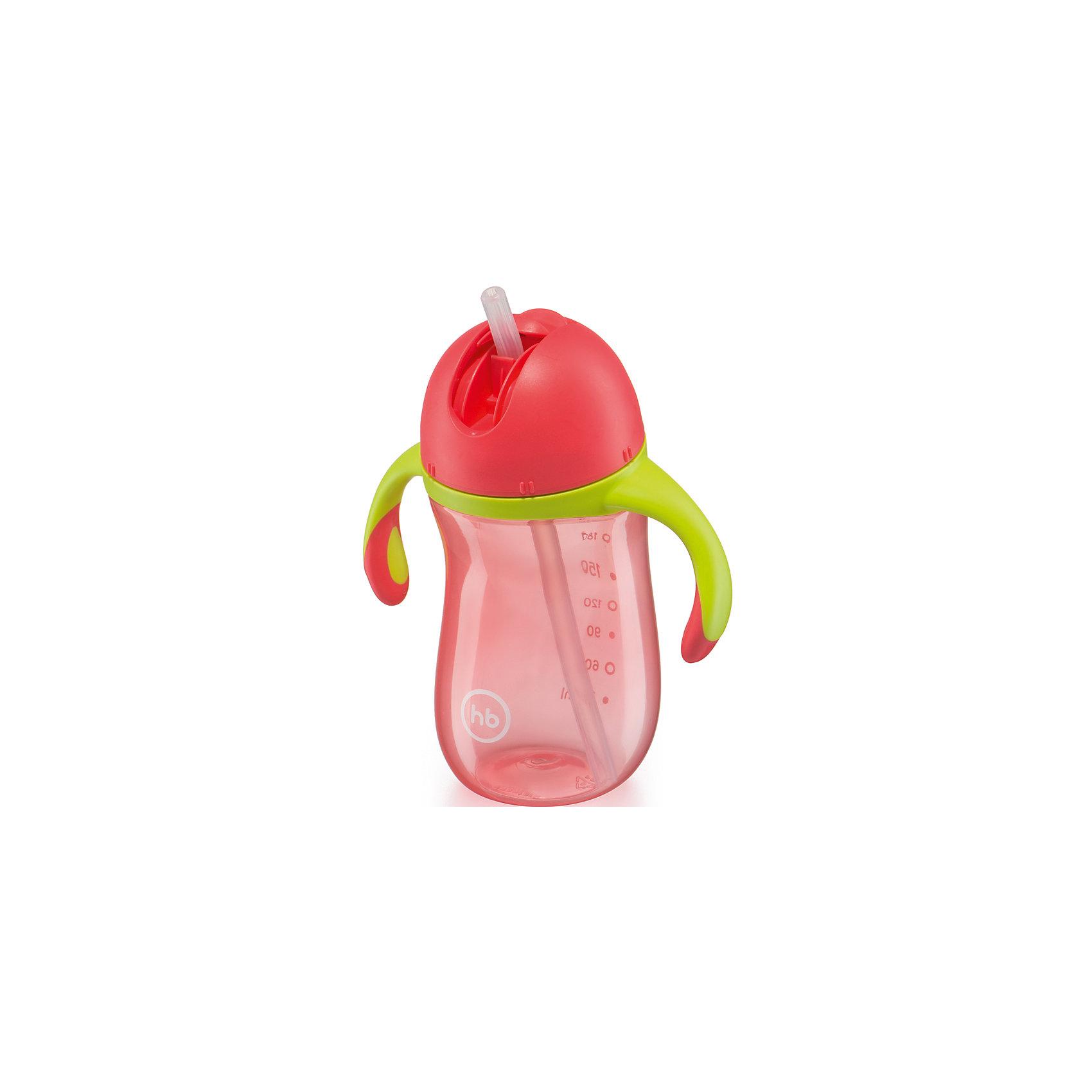 Happy Baby Поильник с трубочкой и ручками STAR FEEDING CUP, Happy Baby, зеленый happy baby поильник с ручками с 6 мес