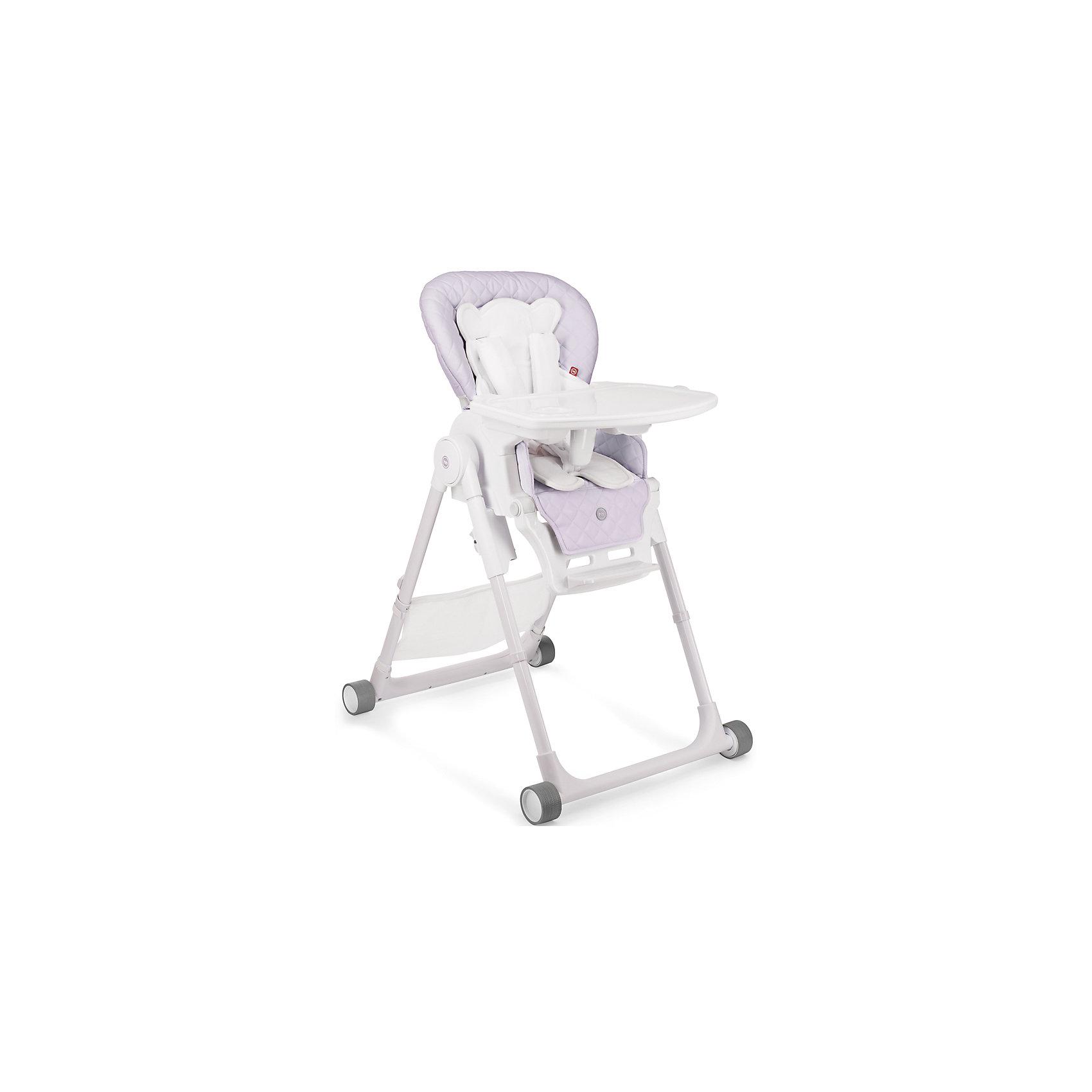 Стульчик для кормления William V2, Happy Baby, сиреневыйот +6 месяцев<br>Стульчик для кормления Wiliam V2 - прекрасный вариант для малышей и их родителей! Стульчик имеет удобное мягкое сиденье эргономичной формы с дополнительным матрасиком для малышей. Пятиточечные страховочные ремни обеспечат безопасность даже самым активным малышам. Съемная столешница регулируется в 3-х положениях (по глубине), дополнена съемным подносом с подстаканником. Три положения наклона сиденья обеспечат комфортное кормление, а регулировка по высоте и регулируемая подножка позволяют стульчику расти вместе с ребенком. Стул имеет колеса, облегчающие перемещение по квартире, легко и быстро складывается, в сложенном виде занимает мало места. В комплекте - сетка для игрушек.<br><br>Дополнительная информация:<br><br>- Материал: пластик, металл, экокожа, текстиль. <br>- Размер: 79х60х100 см. <br>- Размер в сложенном виде: 45х60х82 см. <br>- Ширина сиденья: 32 см.<br>- Ширина колесной базы: 54 см.<br>- Вес: 10,8 кг.<br>- Максимальный вес ребенка: 15 кг.<br>- Регулируемое сиденье.<br>- Регулируемая подножка.<br>- Регулировка по высоте.<br>- Съемный чехол. <br>- Съемная столешница (регулируется по глубине в 3 положениях). <br>- 5-титочечные ремни безопасности. <br>- 4 колеса. <br>- Мягкий вкладыш для малышей. <br>- Сетка для игрушек в комплекте. <br><br>Стульчик для кормления Wiliam V2, Happy Baby (Хеппи Беби), сиреневый, можно купить в нашем магазине.<br><br>Ширина мм: 450<br>Глубина мм: 345<br>Высота мм: 740<br>Вес г: 11400<br>Цвет: сиреневый<br>Возраст от месяцев: 6<br>Возраст до месяцев: 36<br>Пол: Унисекс<br>Возраст: Детский<br>SKU: 4978411