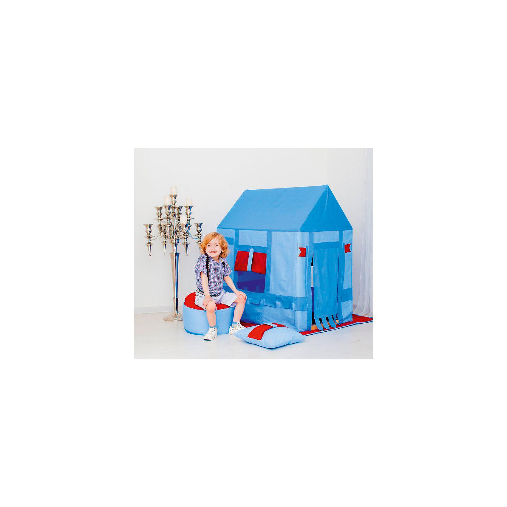 Текстильный домик с пуфиком Замок Бристоль, PAREMOДомики и мебель<br>Текстильный домик с пуфиком Замок Бристоль, PAREMO (Паремо).<br><br>Характеристики:<br><br>- Домик с деревянным каркасом и хлопковым стилизованным чехлом.<br>- Каркас деревянный, требует сборки перед началом эксплуатации.<br>- Все текстильные элементы легко снимаются (удобно для стирки и ухода за игрушкой).<br>- Материал сосна (каркас), текстиль (чехлы, плед), синтепон (набивка подушки и пуфика) <br>- Размер игрушки 120х75х100h см <br>- Размер упаковки 77х14х102 см <br>- Вес 10,5 кг <br><br>В комплект входит:<br><br>- Каркас дома.<br>- Чехол в виде домика.<br>- Двусторонний игровой коврик в основание домика.<br>- Подушка.<br>- Пуфик.<br>- Фурнитура для сборки каркаса.<br>- Инструкция по сборке.<br><br>Текстильный домик с пуфиком «Замок Бристоль» - это игровая текстильная палатка на каркасе от российского производителя PАREMO. Такой замок особенно понравится мальчикам, ведь он стилизован под настоящий рыцарский замок! Он создан специально для отважных рыцарей! Чехол выполнен в разных оттенках голубого цвета и украшен контрастными флагами. Ваш мальчик почувствует себя настоящим героем, готовым к подвигам. Домик удобно перемещать по дому, удобно брать с собой на природу или на дачу в летний период.<br><br>Текстильный домик с пуфиком «Замок Бристоль», PAREMO (Паремо) можно купить в нашем интернет - магазине.<br><br>Ширина мм: 140<br>Глубина мм: 770<br>Высота мм: 1200<br>Вес г: 10500<br>Возраст от месяцев: 36<br>Возраст до месяцев: 120<br>Пол: Мужской<br>Возраст: Детский<br>SKU: 4979528