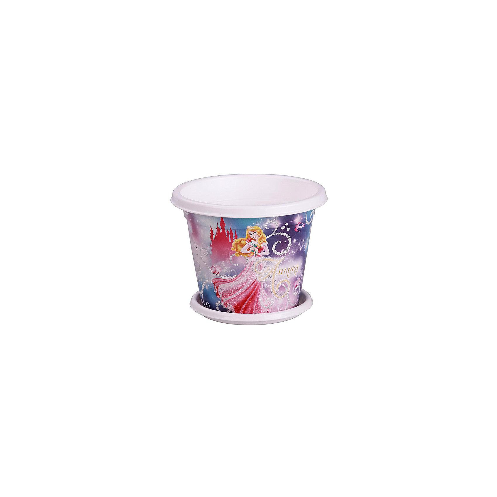 Alternativa Горшок-кашпо Принцессы-Дисней №1  1л с под,  Alternativa alternativa горшок стульчик alternativa св фиолетовый