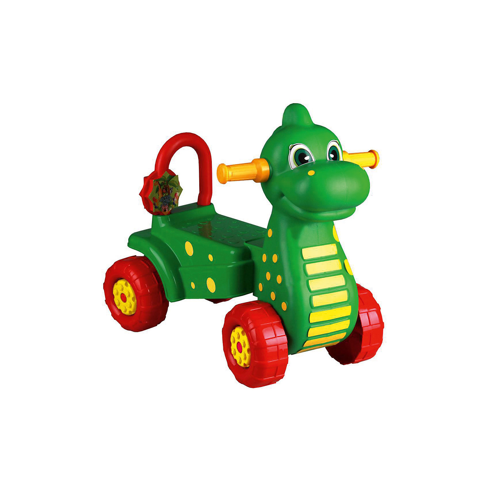 Каталка детская Дракон ,  Alternativa, зел.Машинки-каталки<br>Каталка Дракон очень привлекательная и удобная! Она сделана в форме милого дракона, готового довезти ребенка до места назначения. Каталка устойчиво держится на четырех крупных колесах, имеет хвостик-спинку и удобные ушки-ручки. Яркая и легкая каталка прекрасно подойдет для веселых прогулок и развлечений!<br><br>Дополнительная информация:<br>Цвет: зеленый<br>Материал: пластик<br>Размер: 56х34х51 см<br><br>Вы можете приобрести каталку Дракон в нашем интернет-магазине.<br><br>Ширина мм: 560<br>Глубина мм: 340<br>Высота мм: 510<br>Вес г: 2213<br>Возраст от месяцев: 36<br>Возраст до месяцев: 144<br>Пол: Унисекс<br>Возраст: Детский<br>SKU: 4979690