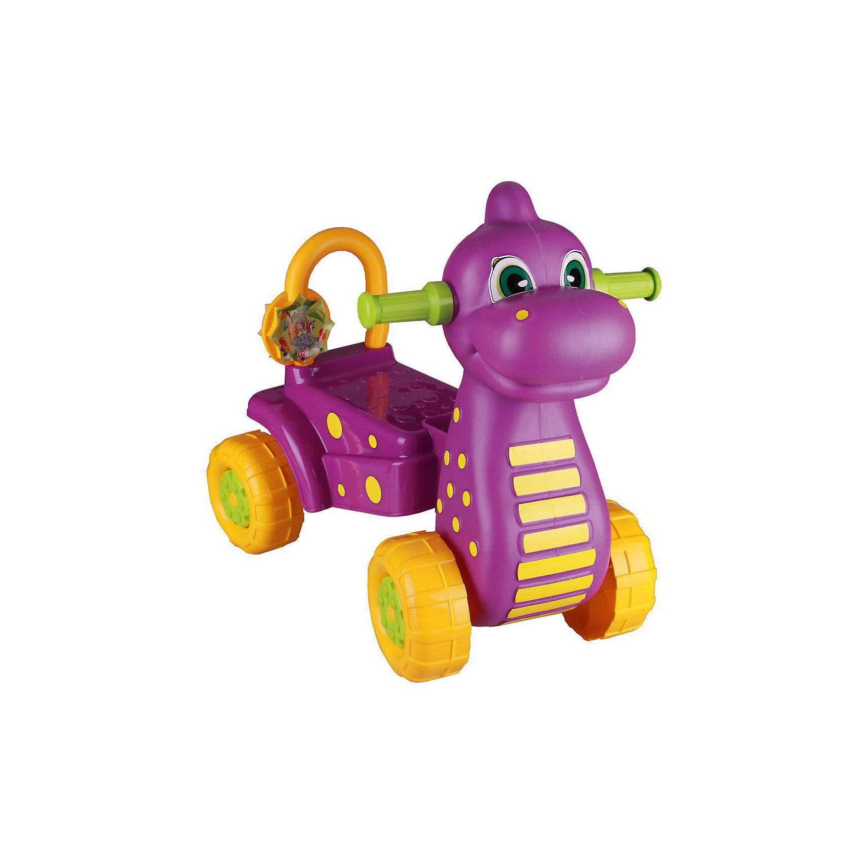 Каталка детская Дракон ,  Alternativa, фиолет.Машинки-каталки<br>Каталка Дракон очень привлекательная и удобная! Она сделана в форме милого дракона, готового довезти ребенка до места назначения. Каталка устойчиво держится на четырех крупных колесах, имеет хвостик-спинку и удобные ушки-ручки. Яркая и легкая каталка прекрасно подойдет для веселых прогулок и развлечений!<br><br>Дополнительная информация:<br>Цвет: фиолетовая<br>Материал: пластик<br>Размер: 56х34х51 см<br><br>Вы можете приобрести каталку Дракон в нашем интернет-магазине.<br><br>Ширина мм: 560<br>Глубина мм: 340<br>Высота мм: 510<br>Вес г: 2213<br>Возраст от месяцев: 36<br>Возраст до месяцев: 144<br>Пол: Унисекс<br>Возраст: Детский<br>SKU: 4979691