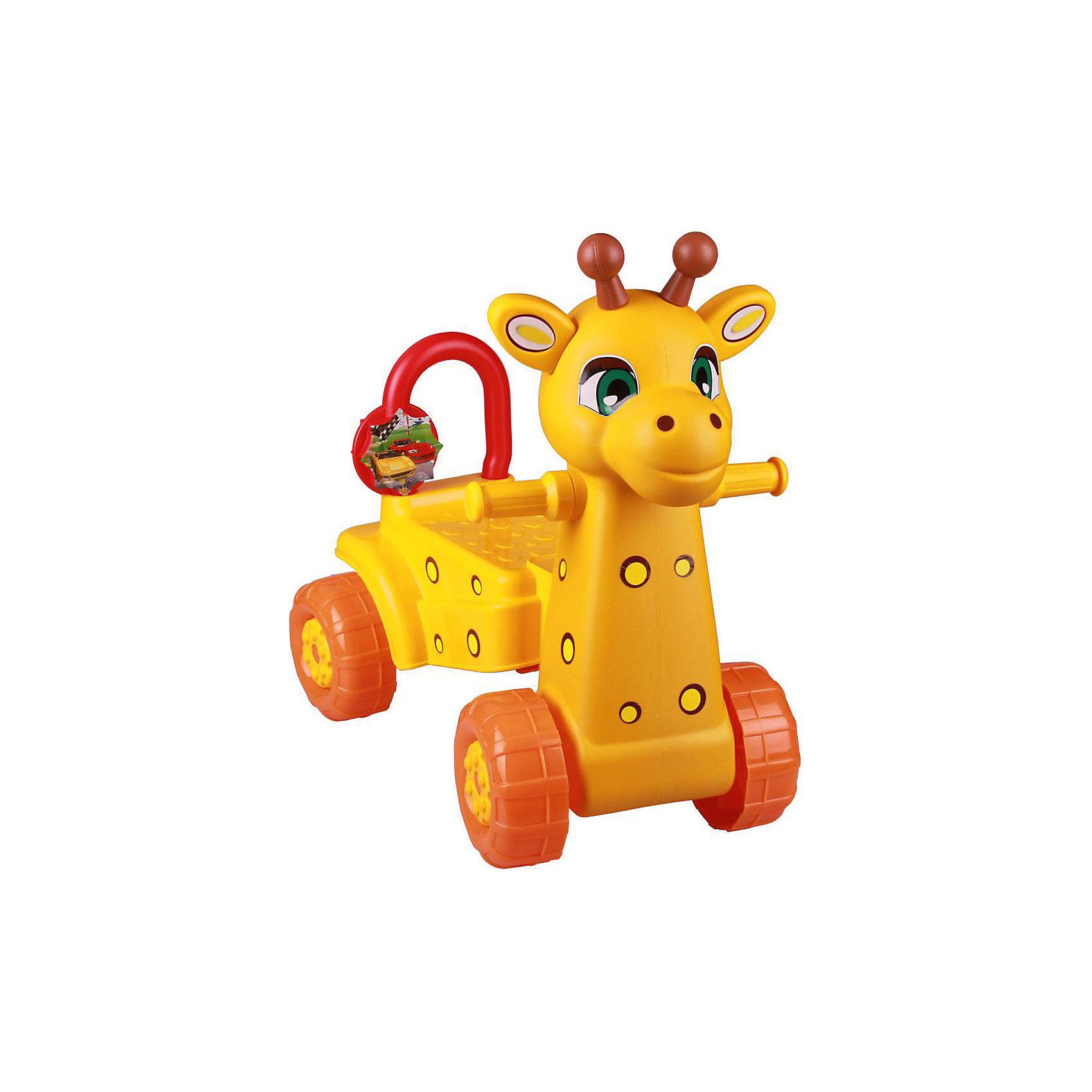 Каталка детская Жираф ,  Alternativa, желт.Машинки-каталки<br>Чтобы покататься на жирафе, совсем не обязательно ехать в Африку. Жираф - каталка выглядит почти как настоящий: у него есть ушки, рога, хвостик и даже пятнышки. Удобная спинка сидения и ручки не дадут ребенку упасть. Передвигаться на этой каталке малыш будет с удовольствием!<br><br>Дополнительная информация:<br>Цвет: желтый<br>Материал: пластик<br>Размер: 56х34х56 см<br><br>Каталку Жираф вы можете купить в нашем интернет-магазине.<br><br>Ширина мм: 560<br>Глубина мм: 340<br>Высота мм: 560<br>Вес г: 2575<br>Возраст от месяцев: 36<br>Возраст до месяцев: 144<br>Пол: Унисекс<br>Возраст: Детский<br>SKU: 4979692