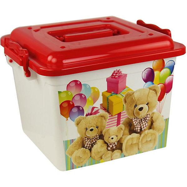 Контейнер Мишки универсальный 8,5л. ,  AlternativaЯщики для игрушек<br>Универсальный контейнер Мишки очень вместительный и удобный в использовании. В нем можно хранить детские игрушки или приятные мелочи. Контейнер закрывается крышкой и закрепляется боковыми ручками. Верхнюю ручку можно использовать для переноски. Спереди контейнер украшен очаровательными медвежатами.<br><br>Дополнительная информация:<br>Материал: пластик<br>Объем: 8,5 л<br>Размер: 26х26х20 см<br><br>Контейнер Мишки можно купить в нашем интернет-магазине.<br><br>Ширина мм: 260<br>Глубина мм: 260<br>Высота мм: 200<br>Вес г: 415<br>Возраст от месяцев: 36<br>Возраст до месяцев: 144<br>Пол: Унисекс<br>Возраст: Детский<br>SKU: 4979717